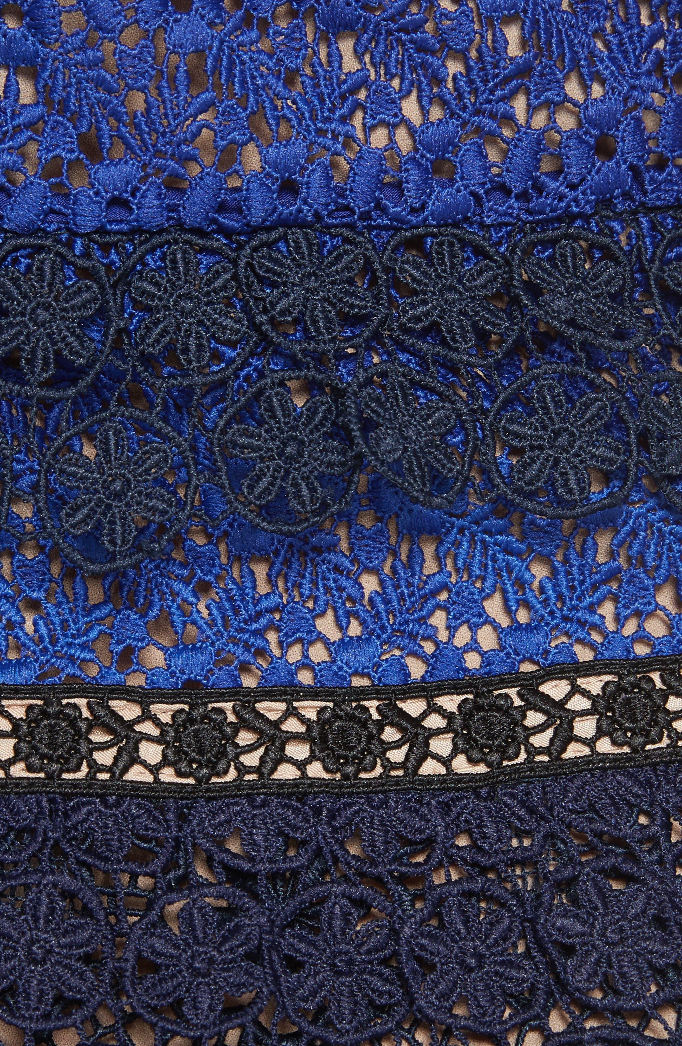Paneled Lace Maxi Dress,                             Alternate thumbnail 5, color,                             Navy