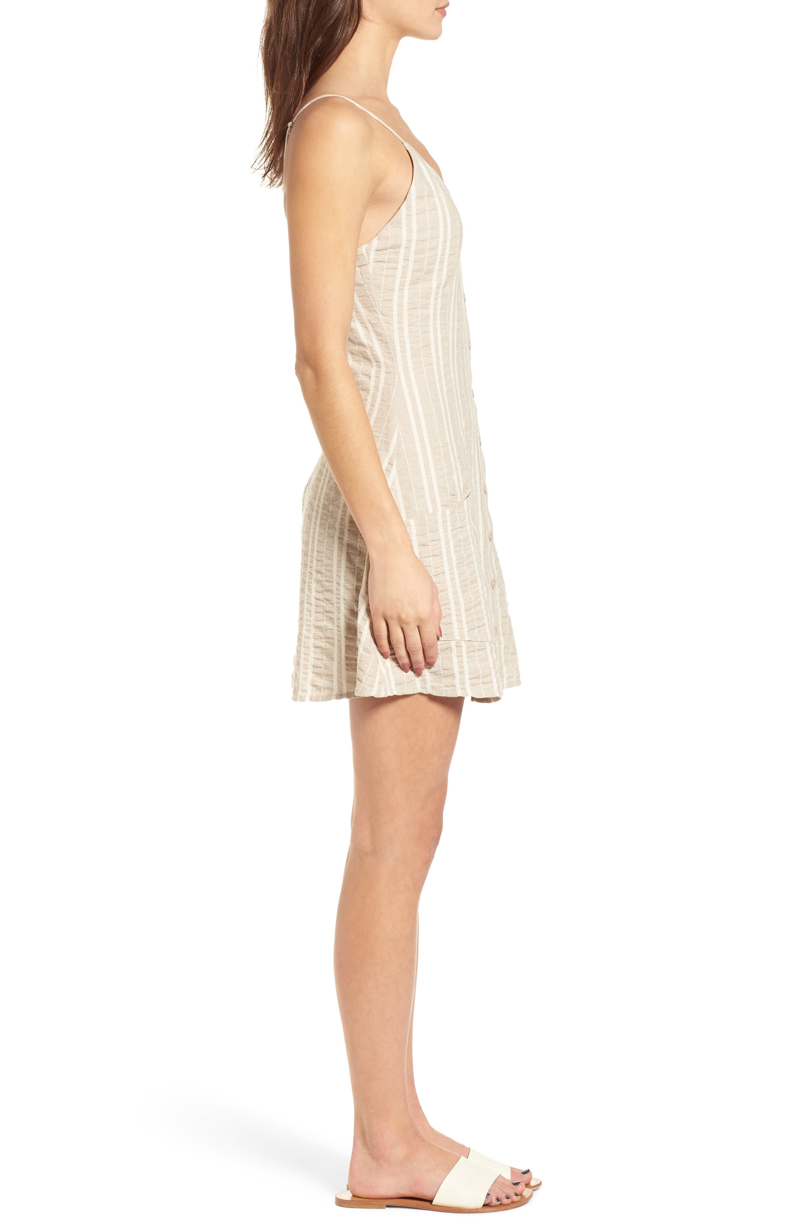 Stella Stripe Dress,                             Alternate thumbnail 4, color,                             Cream