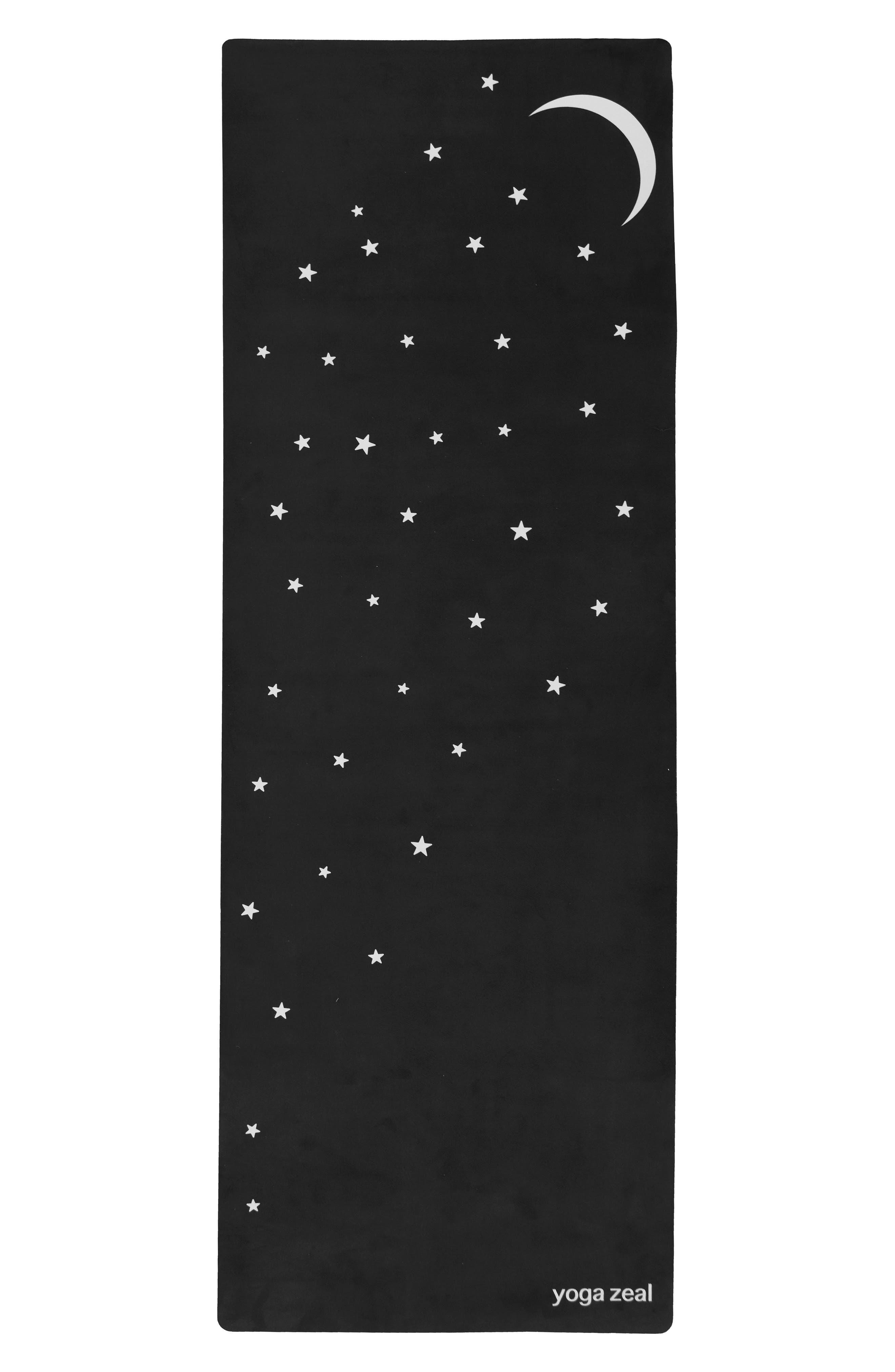 Yoga Zeal Moon & Stars Print Yoga Mat