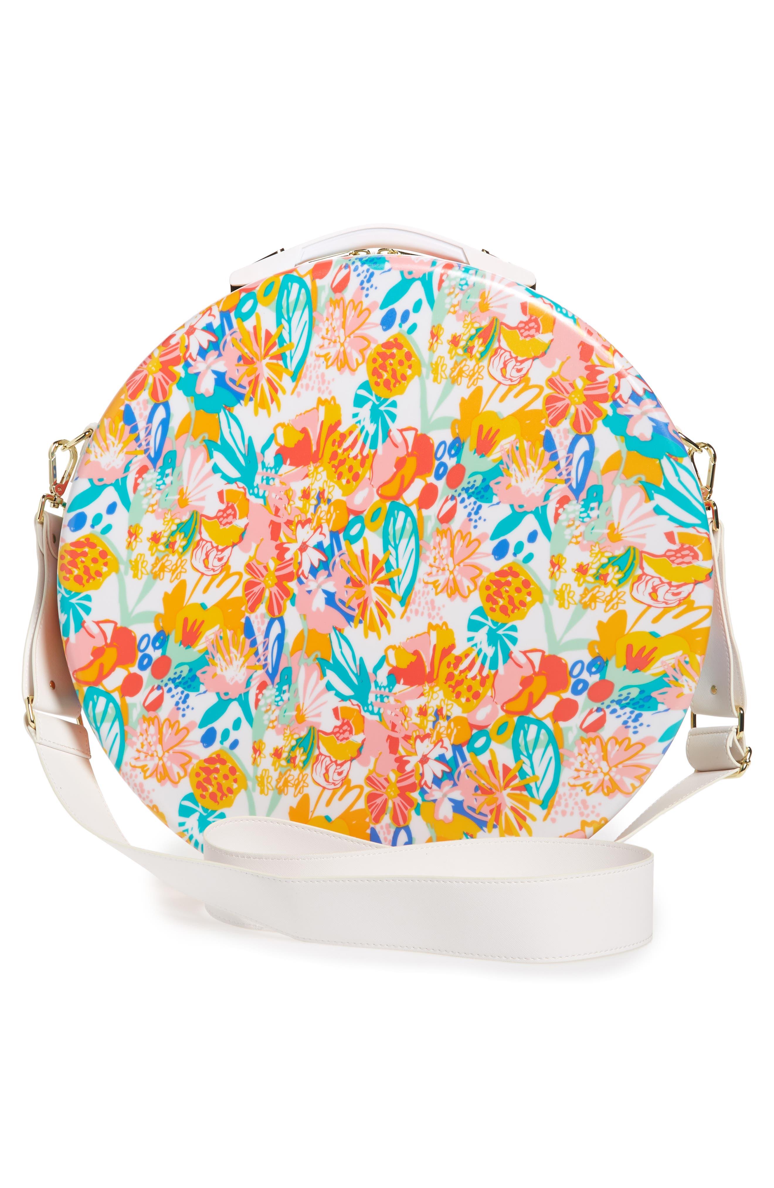 Baye Medium Hardcase Hat Box,                             Alternate thumbnail 2, color,                             Floral