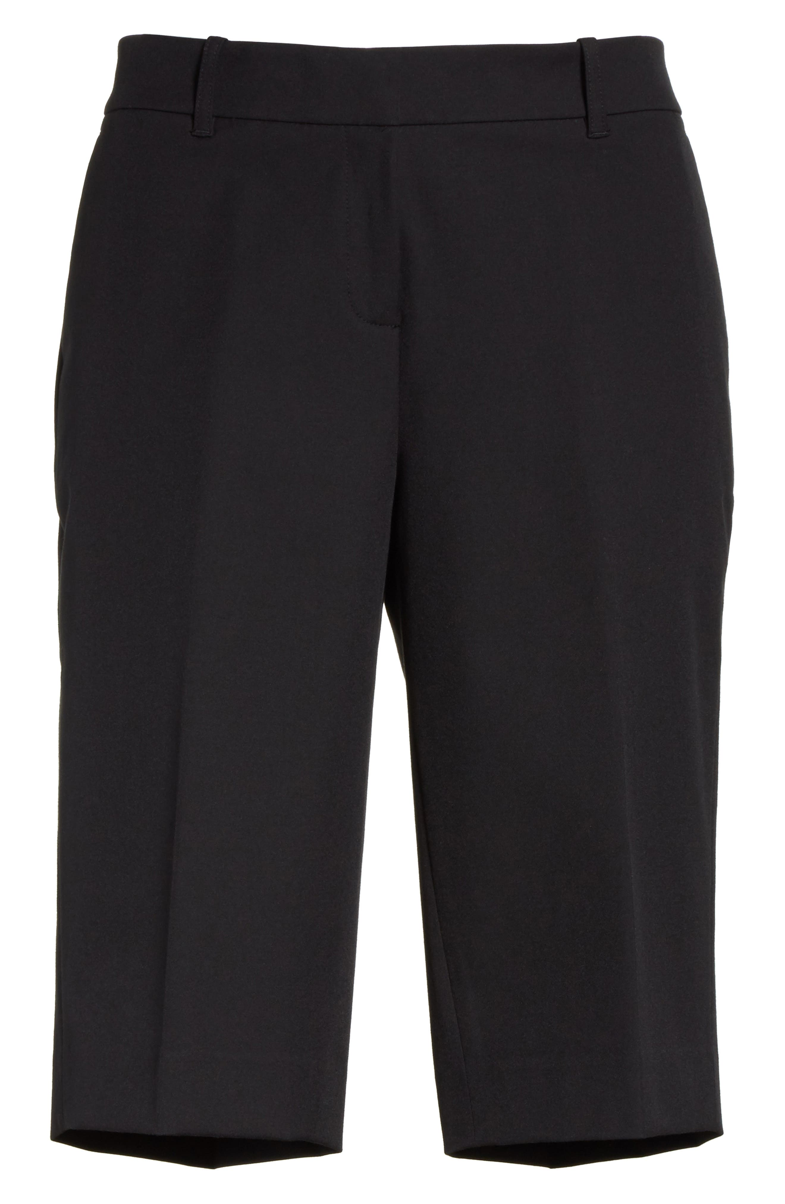Manhattan Bermuda Shorts,                             Alternate thumbnail 6, color,                             Black