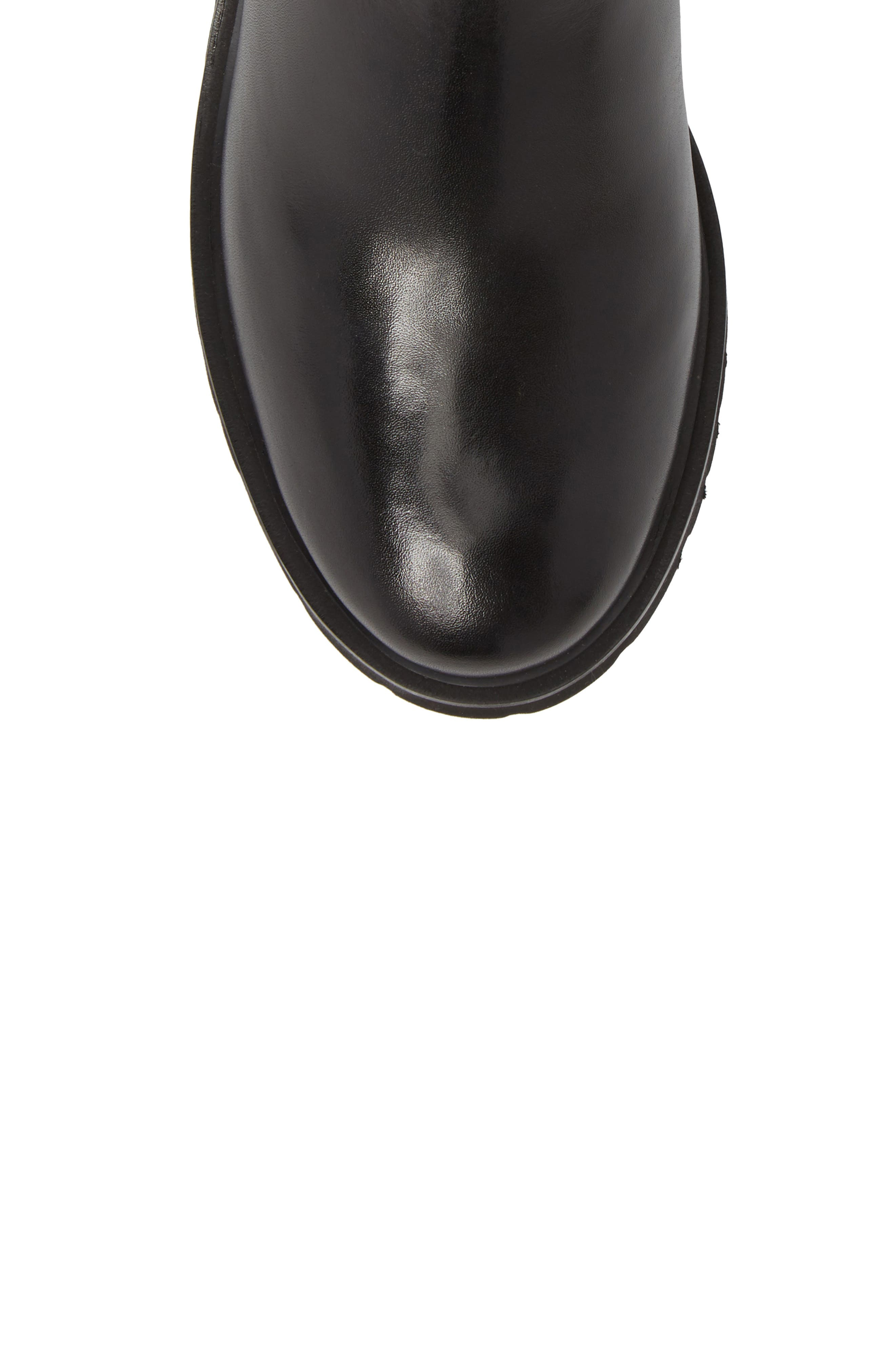 Berkley Chelsea Bootie,                             Alternate thumbnail 5, color,                             Black Leather