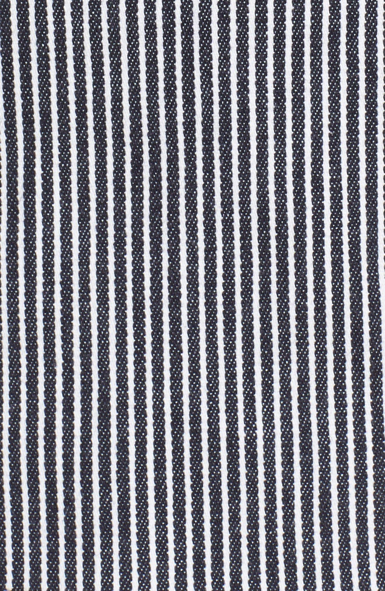 Katemika Stripe Stretch Cotton Suit Jacket,                             Alternate thumbnail 6, color,                             Navy Fantasy