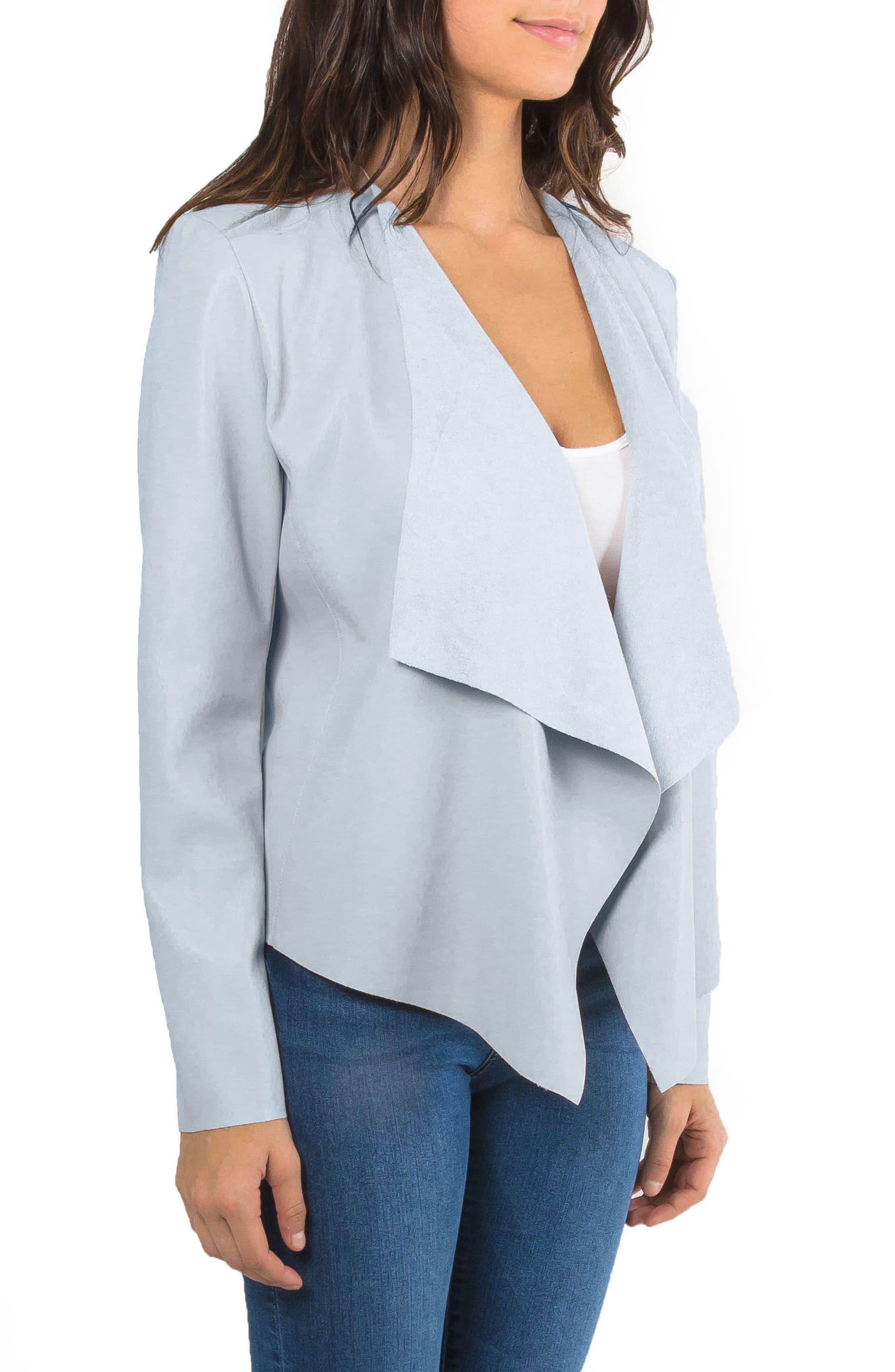 Alternate Image 3  - Bagatelle Drape Faux Leather Jacket