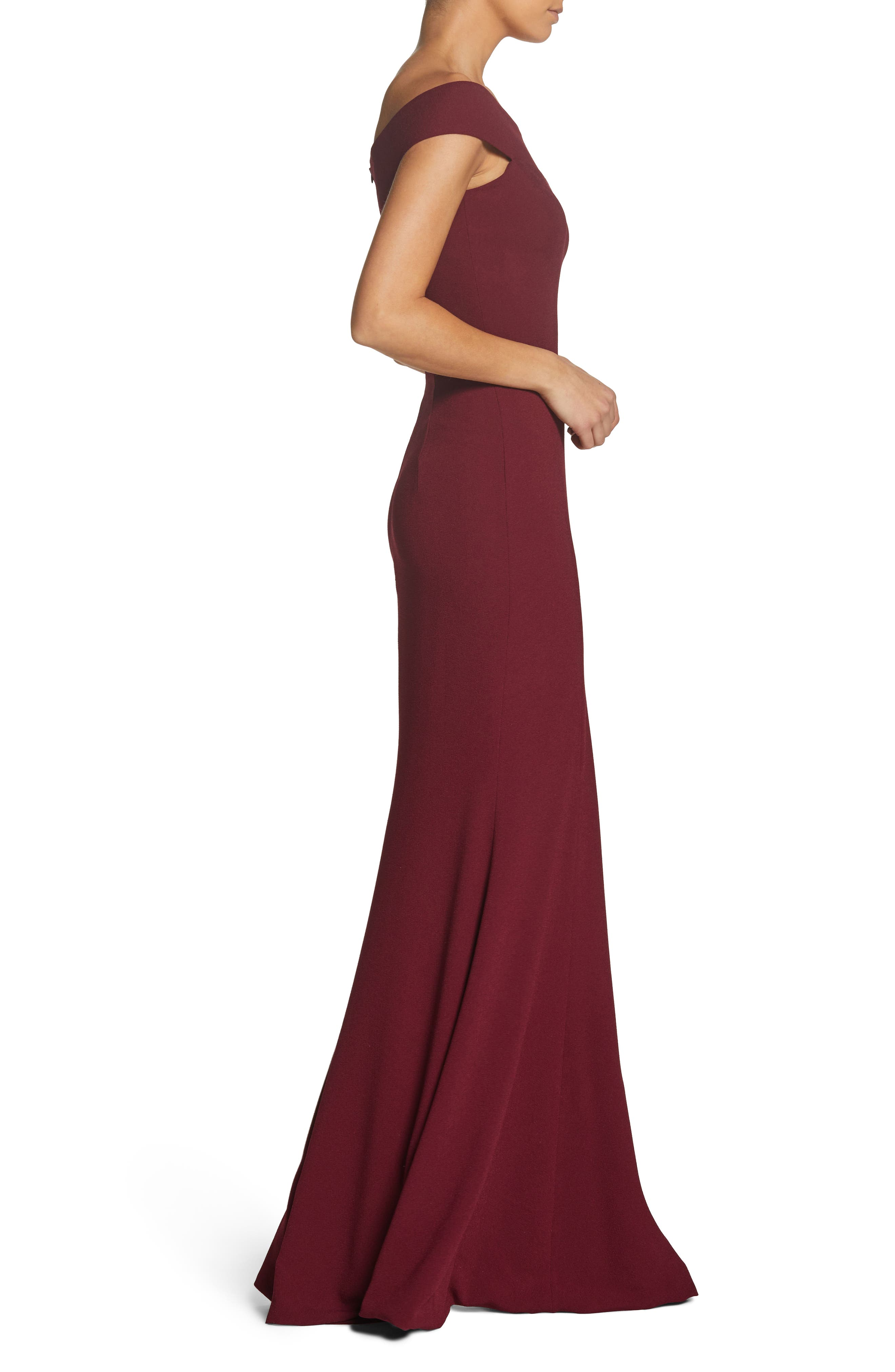 Alternate Image 3  - Dress the Population Jackie Off the Shoulder Crepe Trumpet Gown