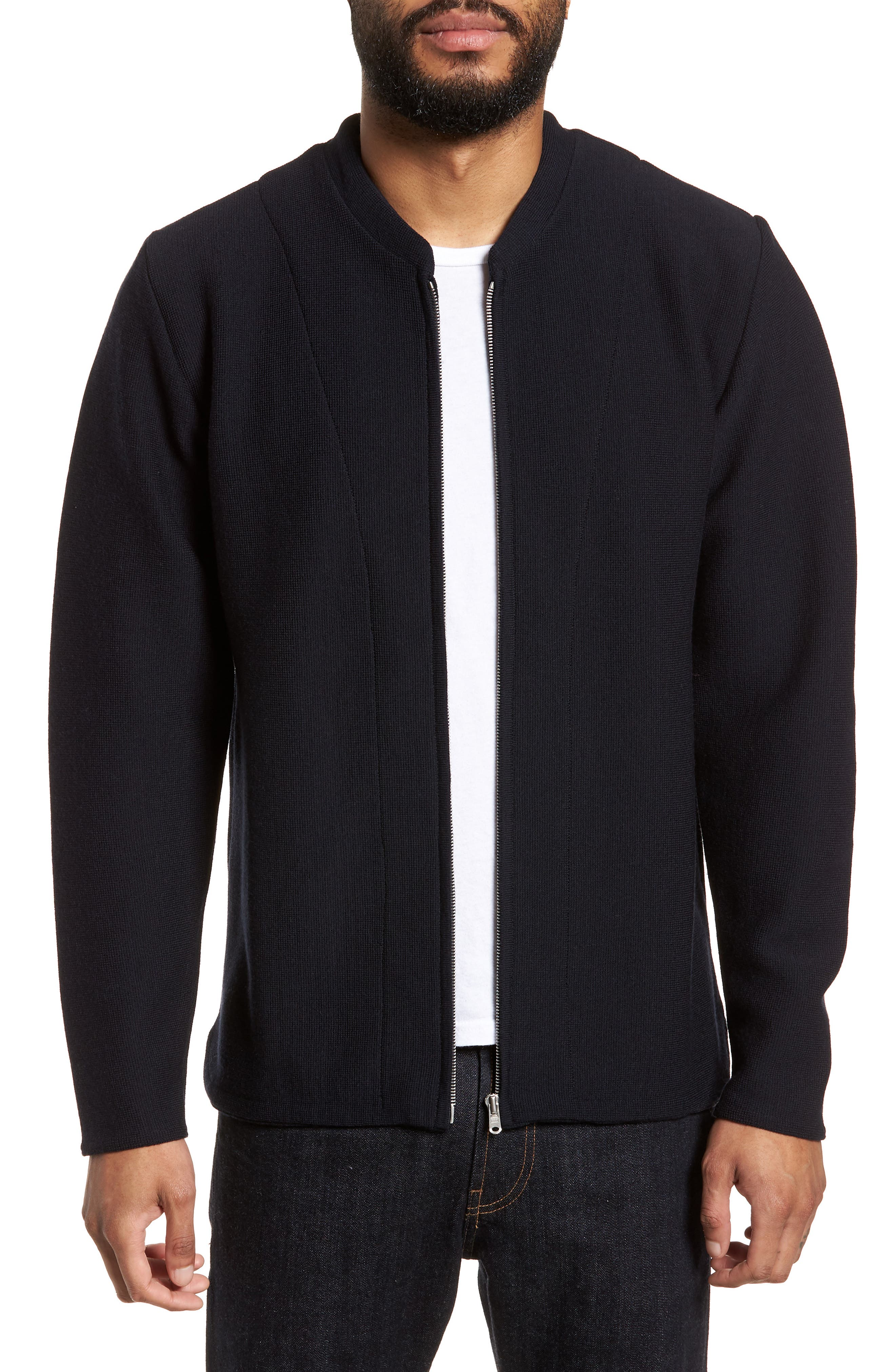 Black wool sweater coat