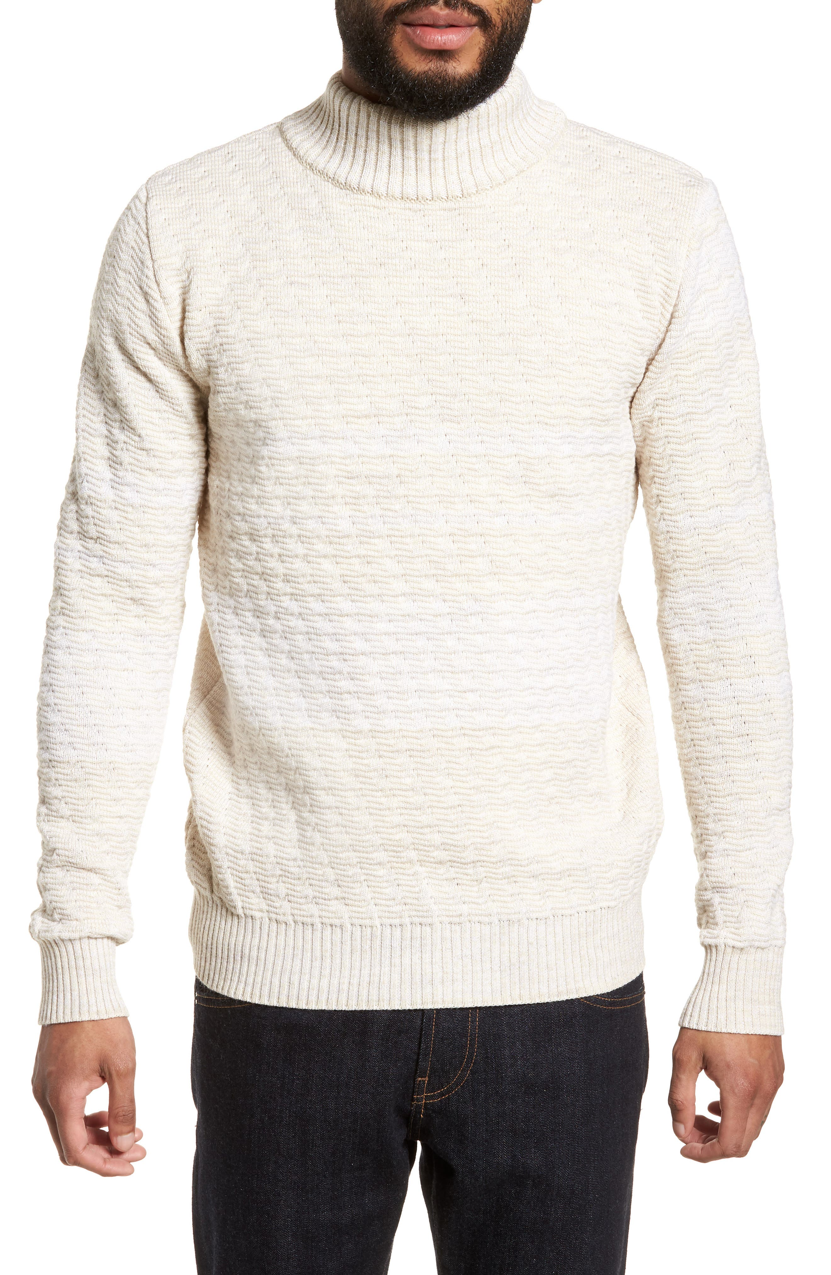 Evident Wool Turtleneck Sweater,                             Main thumbnail 1, color,                             Raw