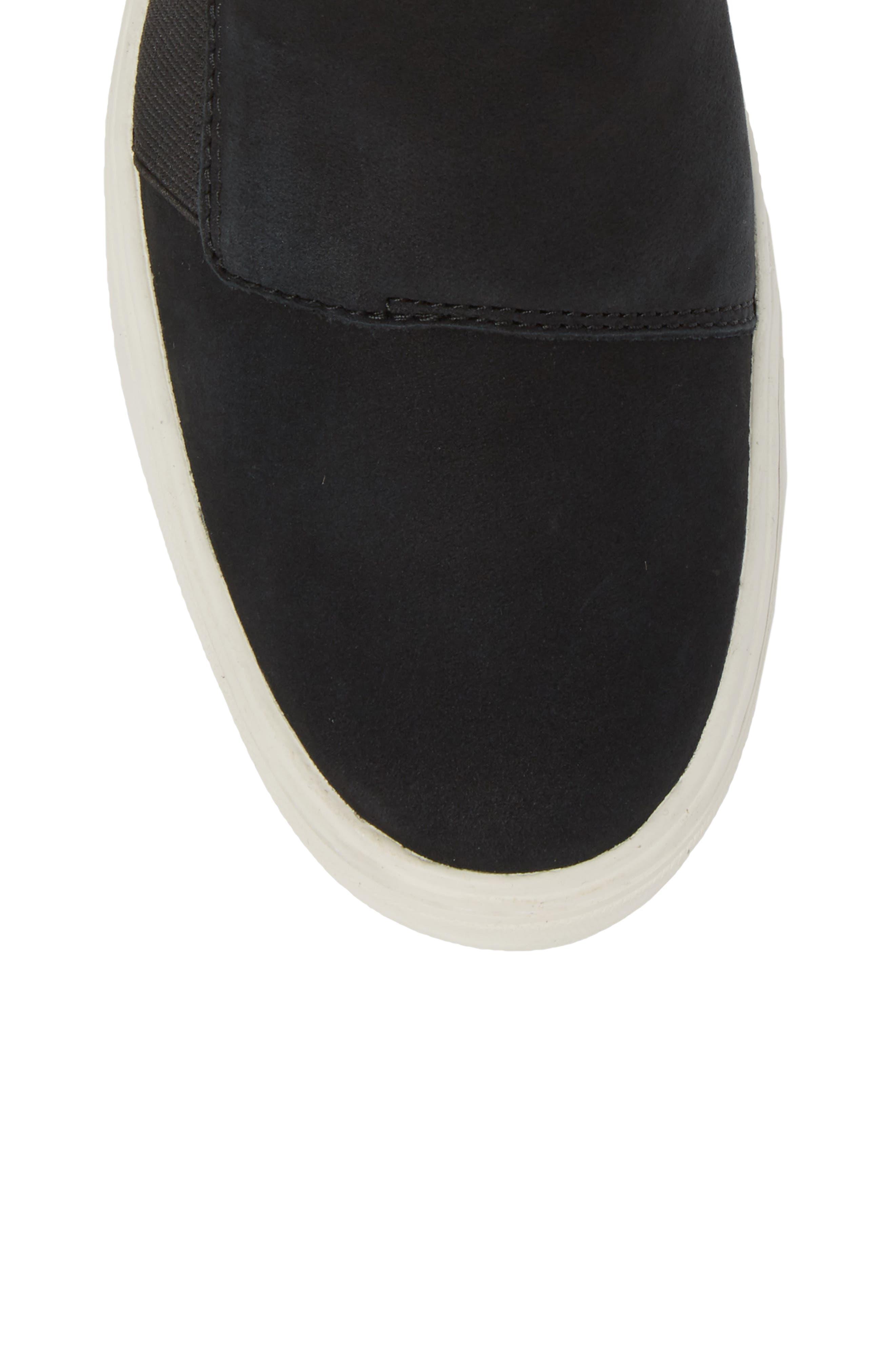 Londyn Chelsea Boot,                             Alternate thumbnail 5, color,                             Black Nubuck Leather