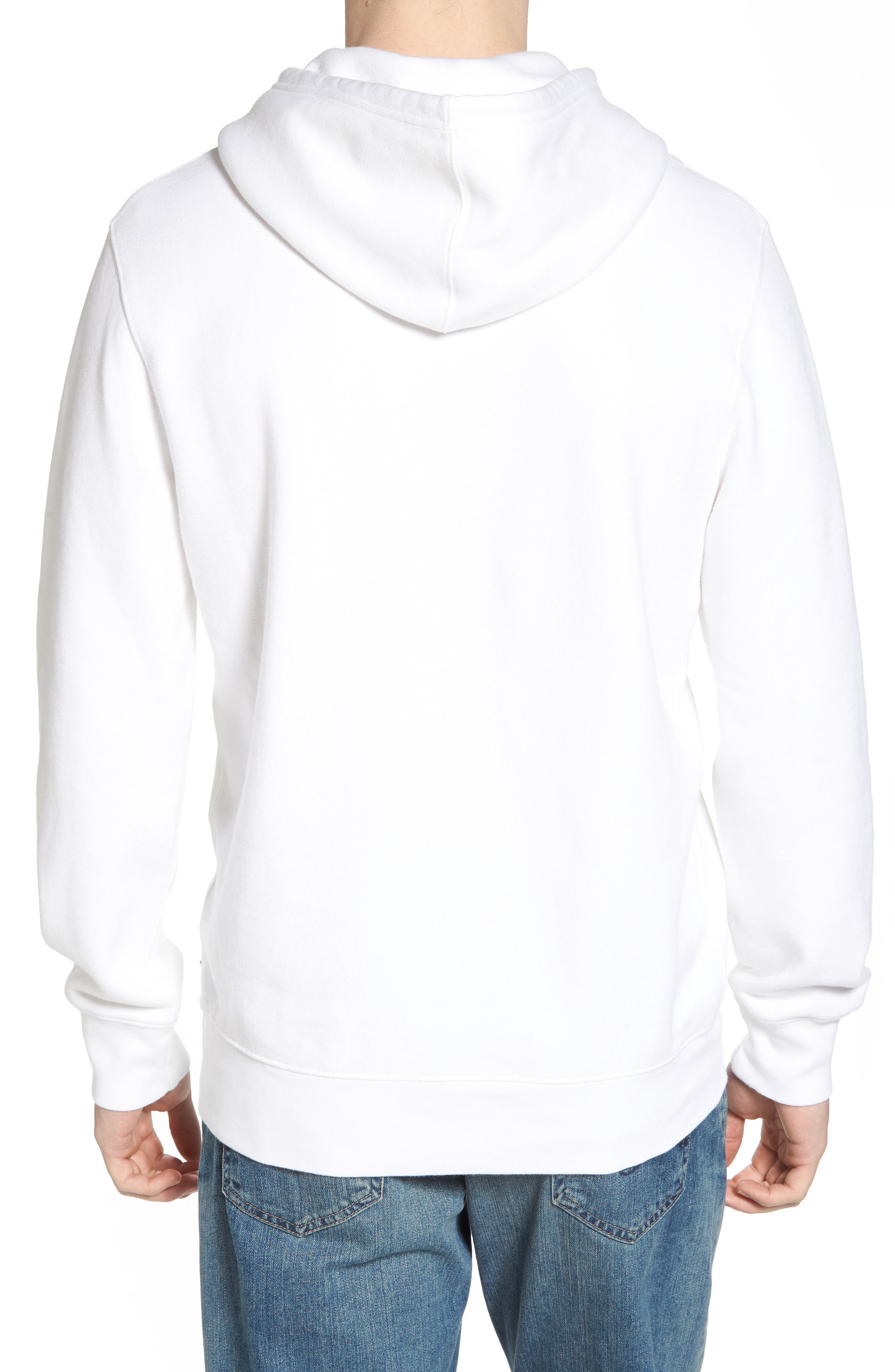 Graphic Hoodie Sweatshirt,                             Alternate thumbnail 2, color,                             Olympic White