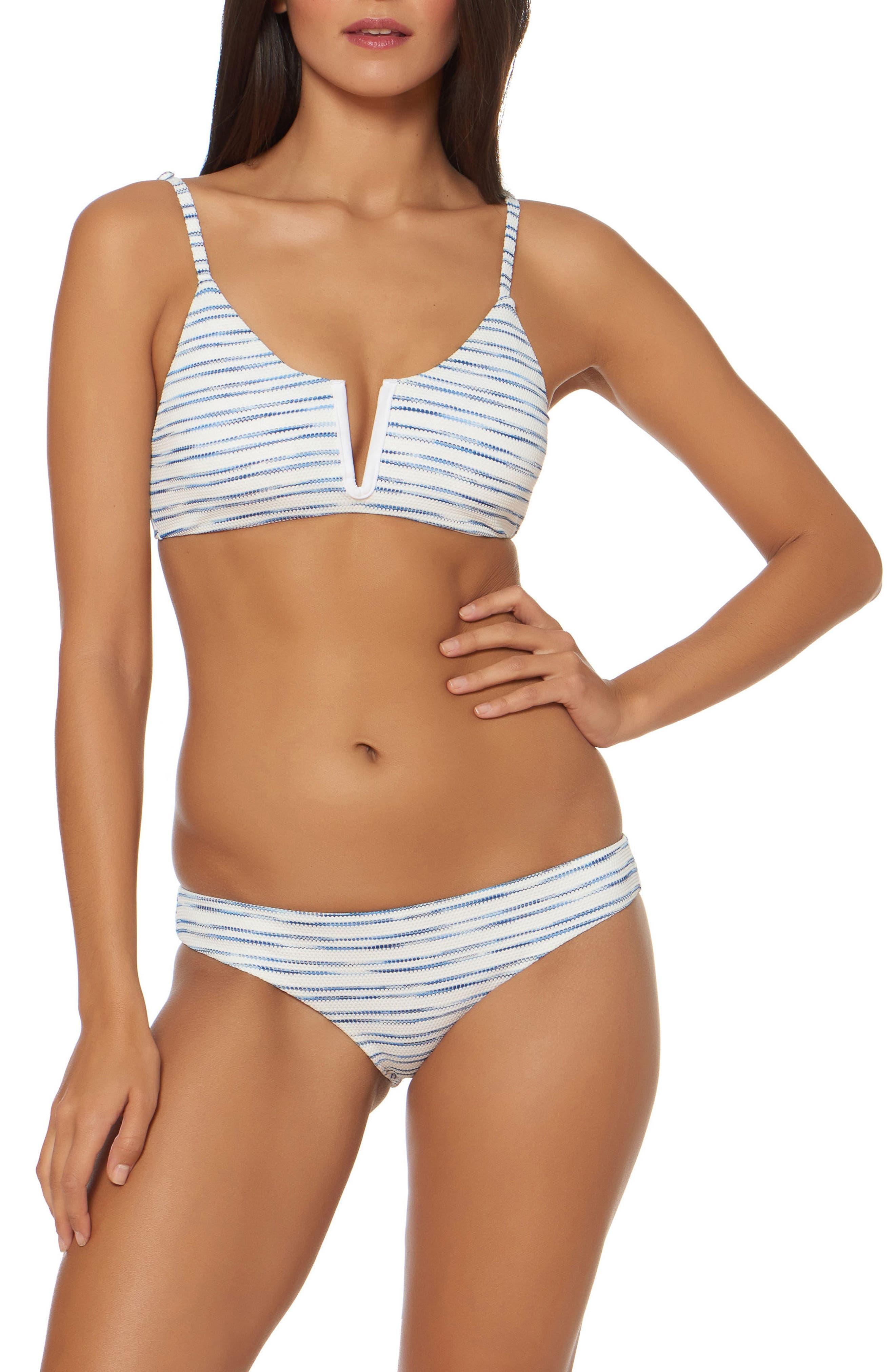 V-Wire Bralette Bikini Top,                             Alternate thumbnail 3, color,                             White
