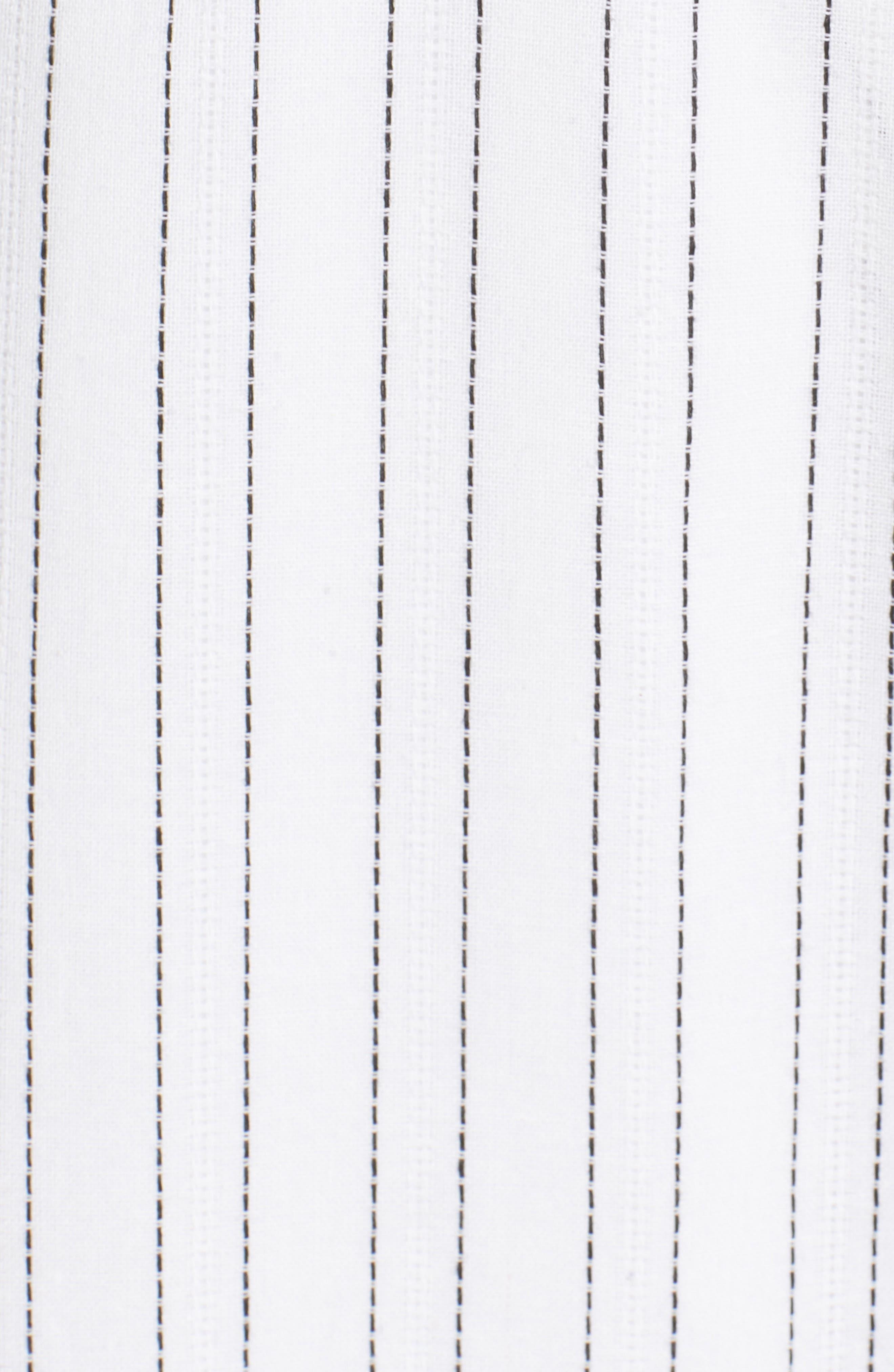Cold Shoulder Midi Dress,                             Alternate thumbnail 6, color,                             White/ Black