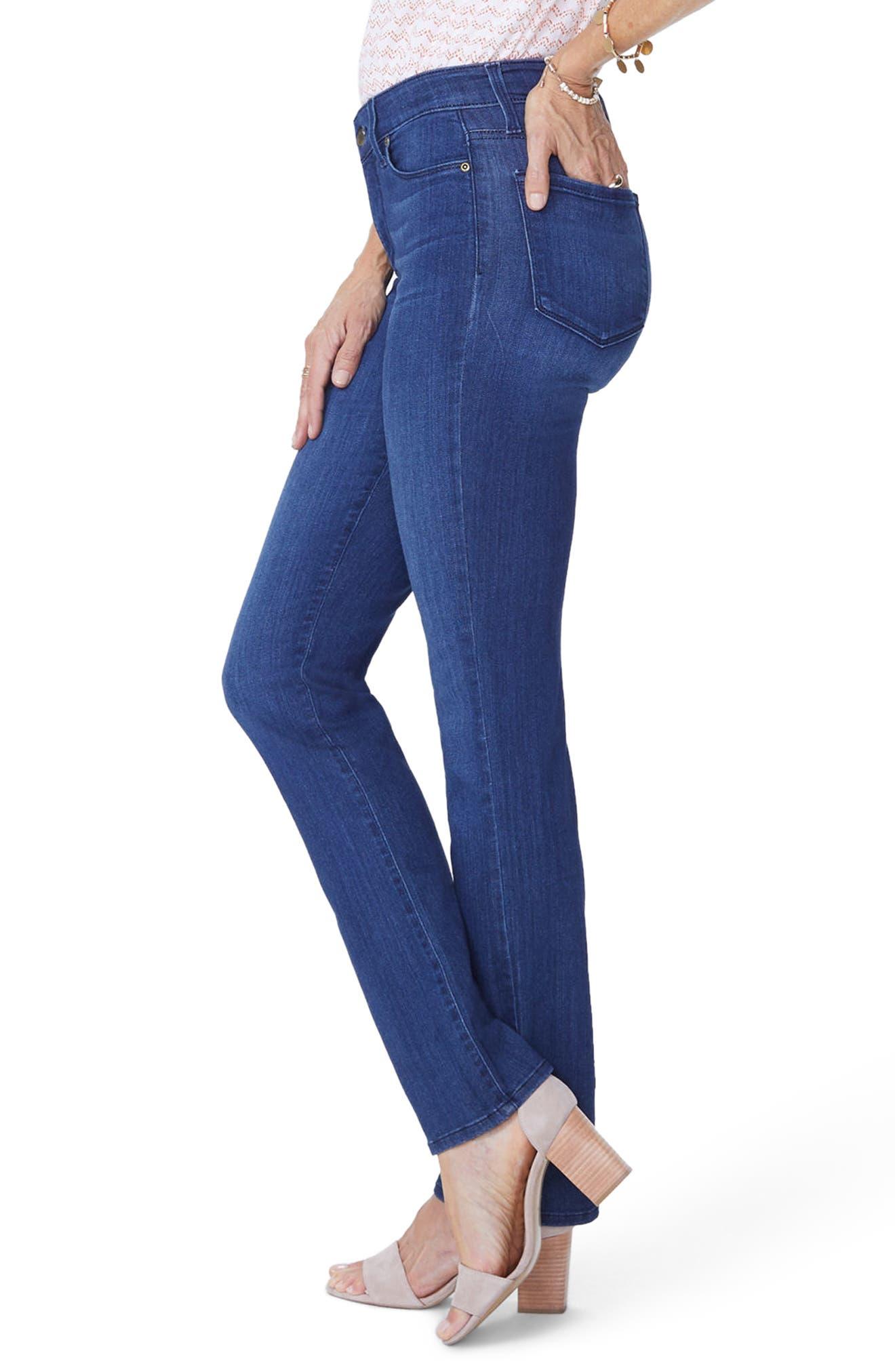 Marilyn Straight Jeans,                             Alternate thumbnail 3, color,                             Lark