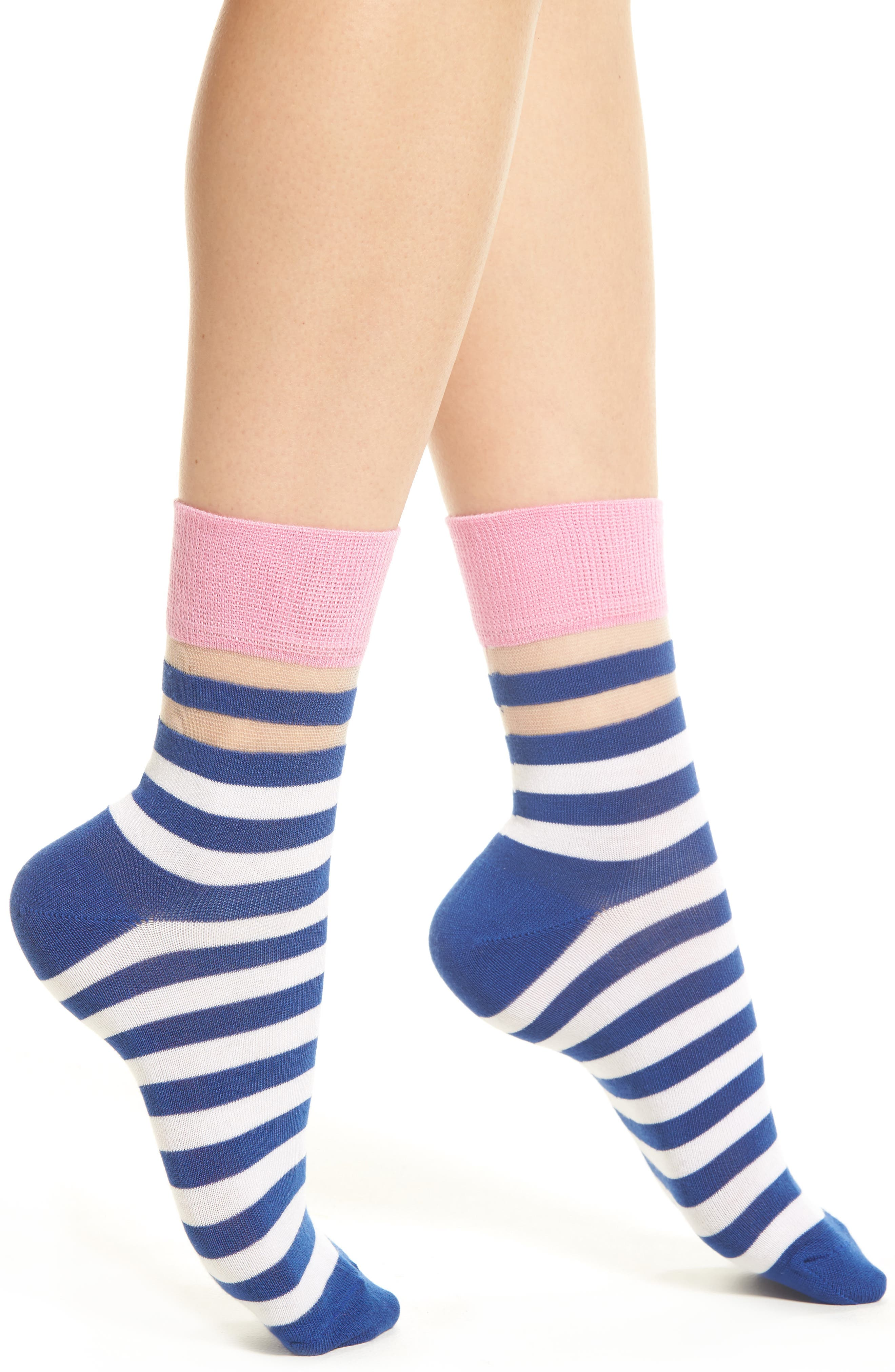 Verna Crew Socks,                             Main thumbnail 1, color,                             Blue