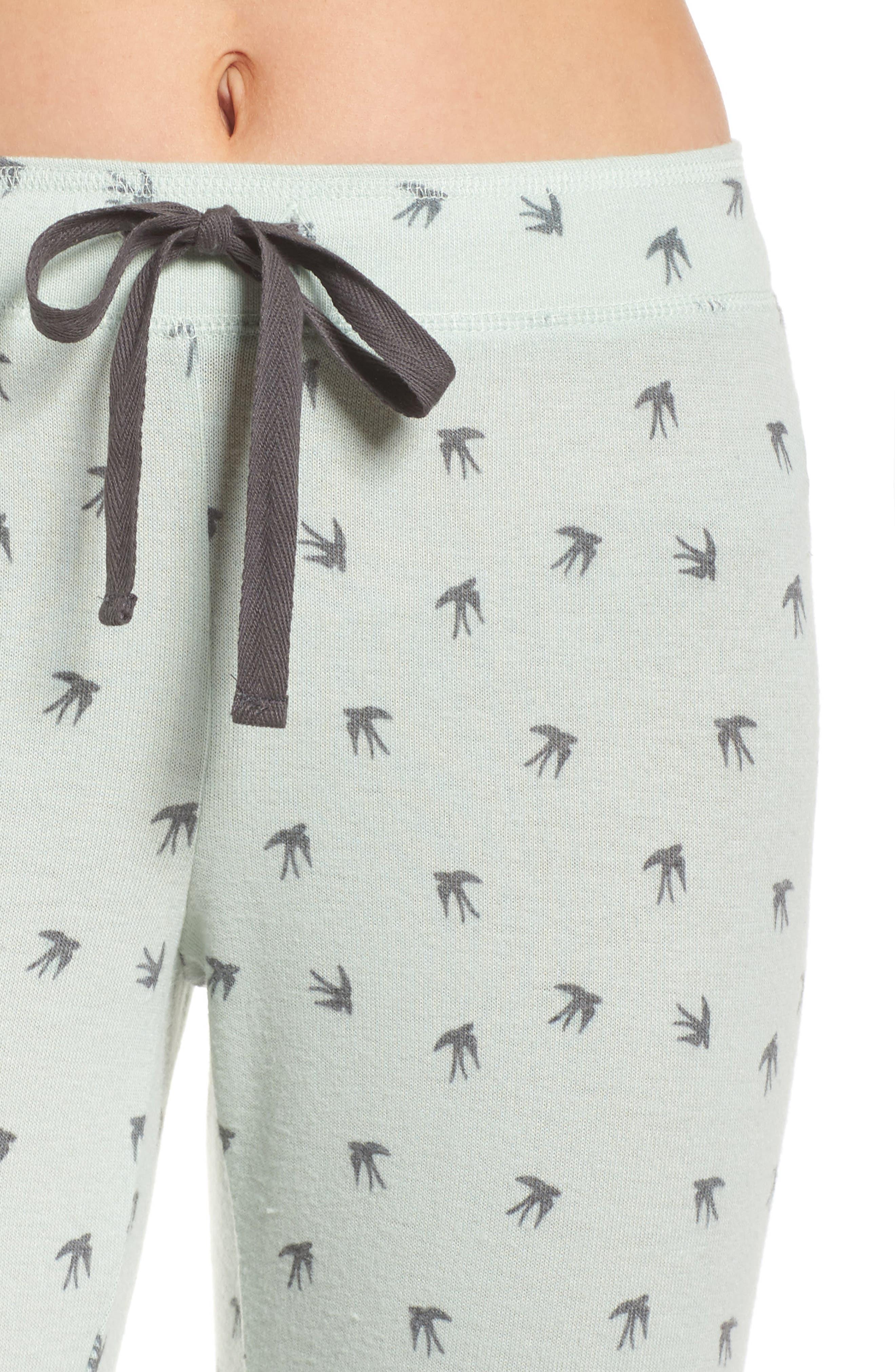 Peachy Pajama Pants,                             Alternate thumbnail 6, color,                             Seafoam