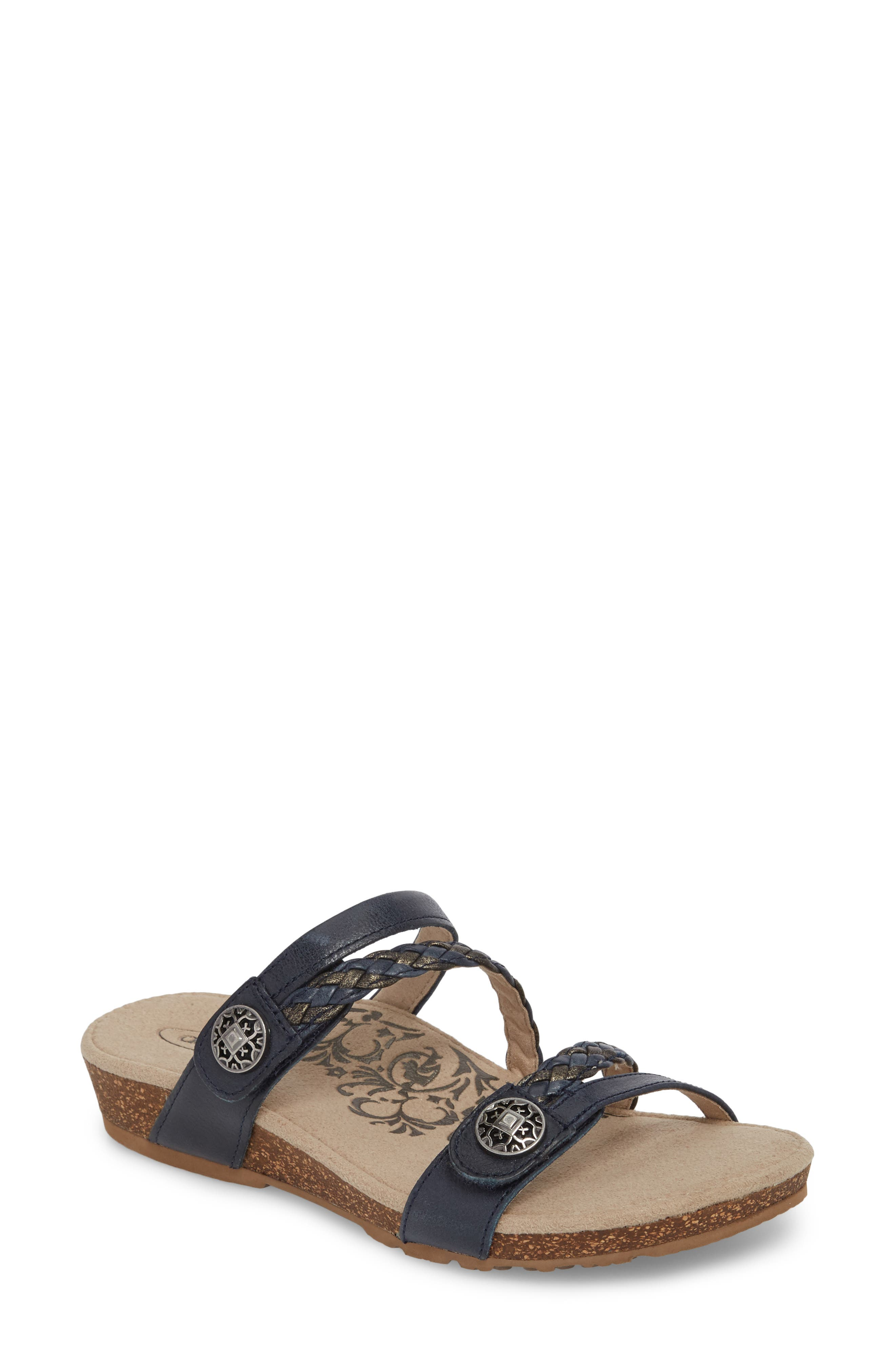 Aetrex Janey Braided Slide Sandal (Women)