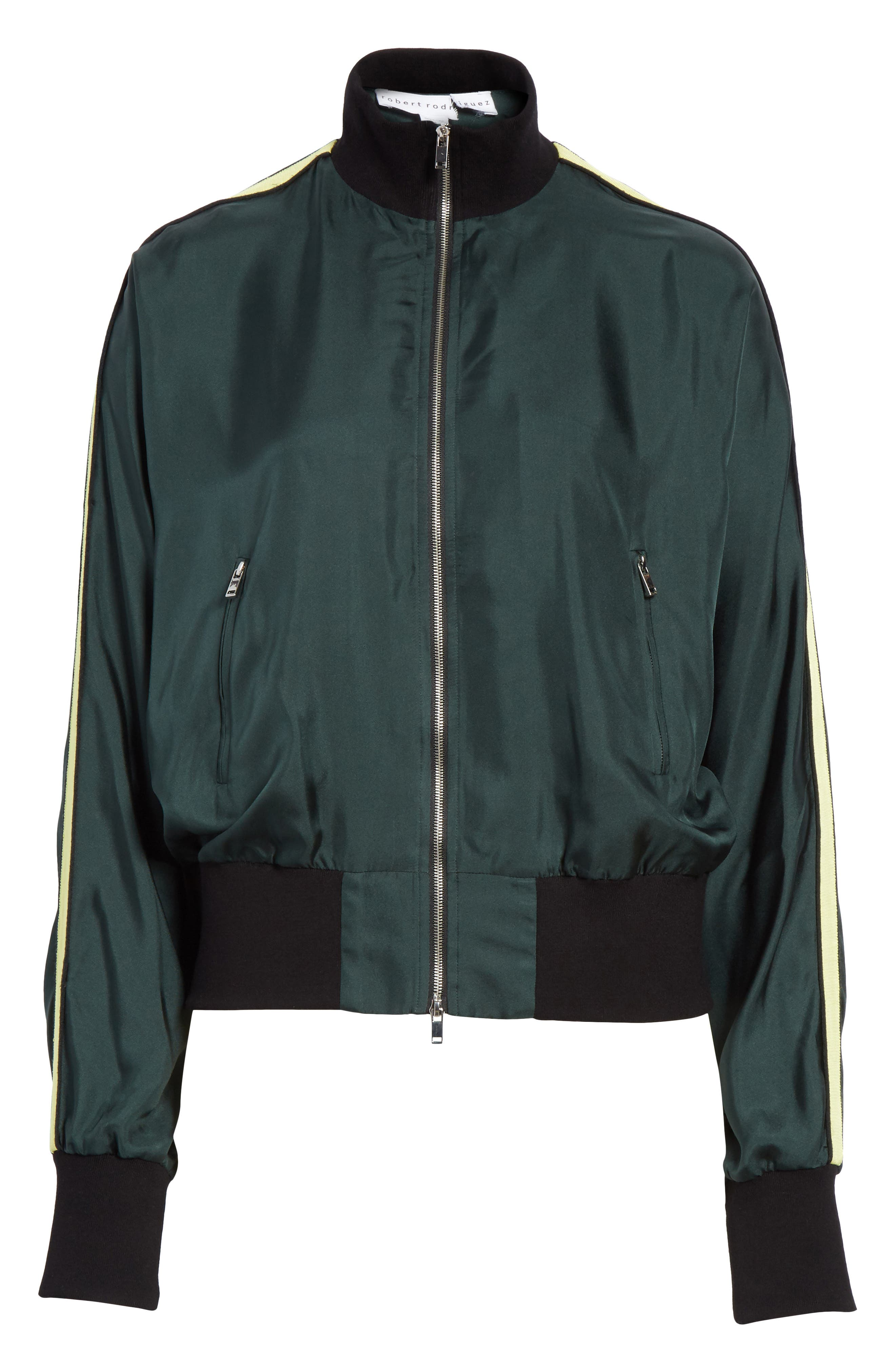 Silk Track Jacket,                             Alternate thumbnail 10, color,                             Green