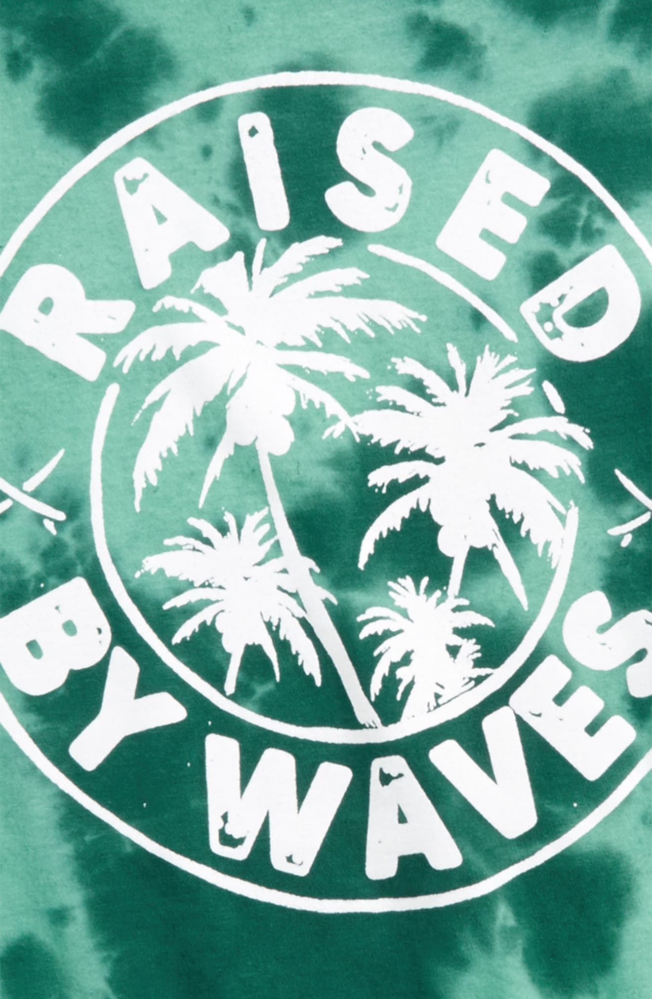 Raised by Waves Graphic T-Shirt,                             Alternate thumbnail 2, color,                             Teal Gem- Black Waves