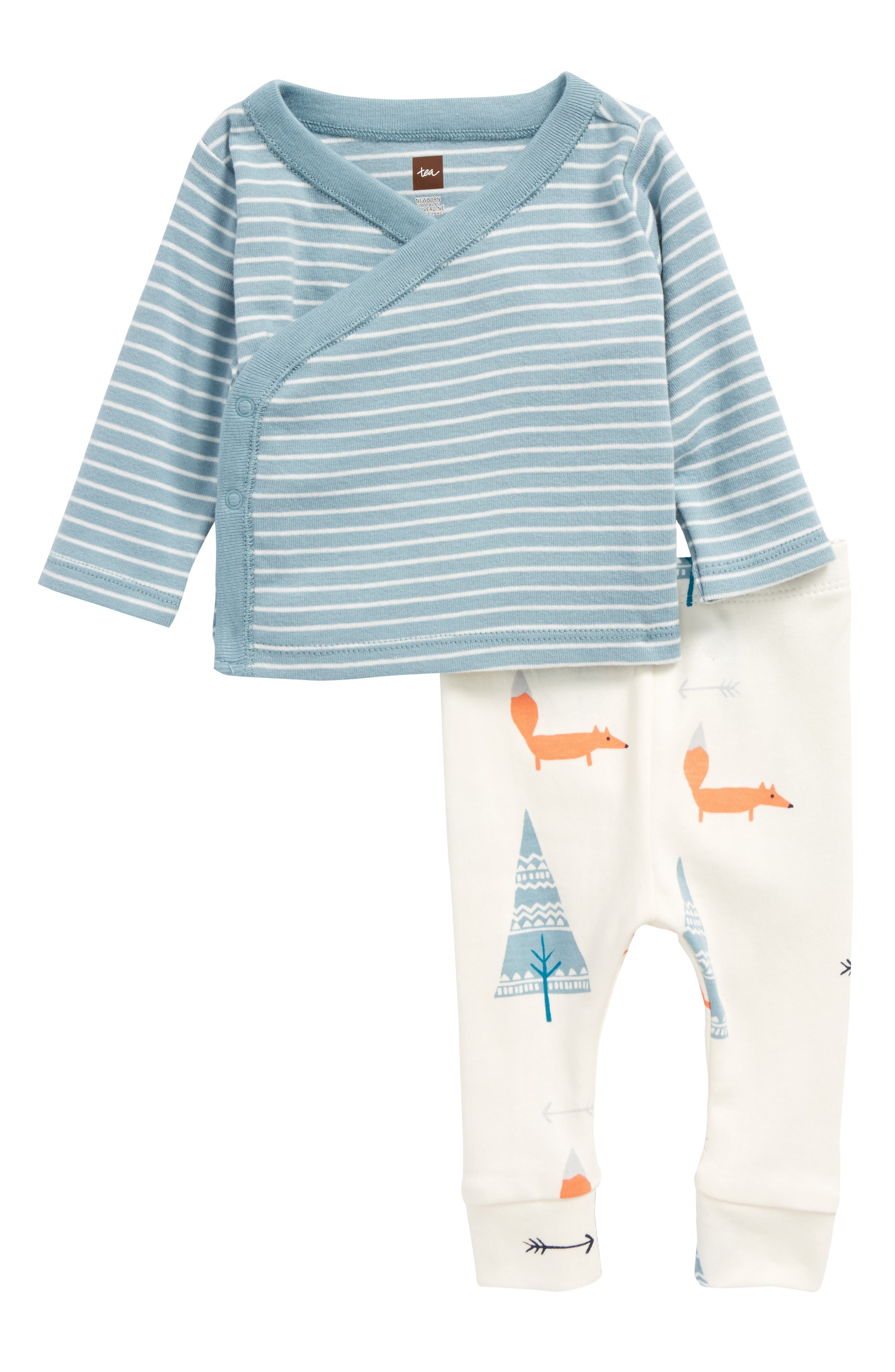 Tea Collection Wrap Tunic & Pants Set (Baby Boys)