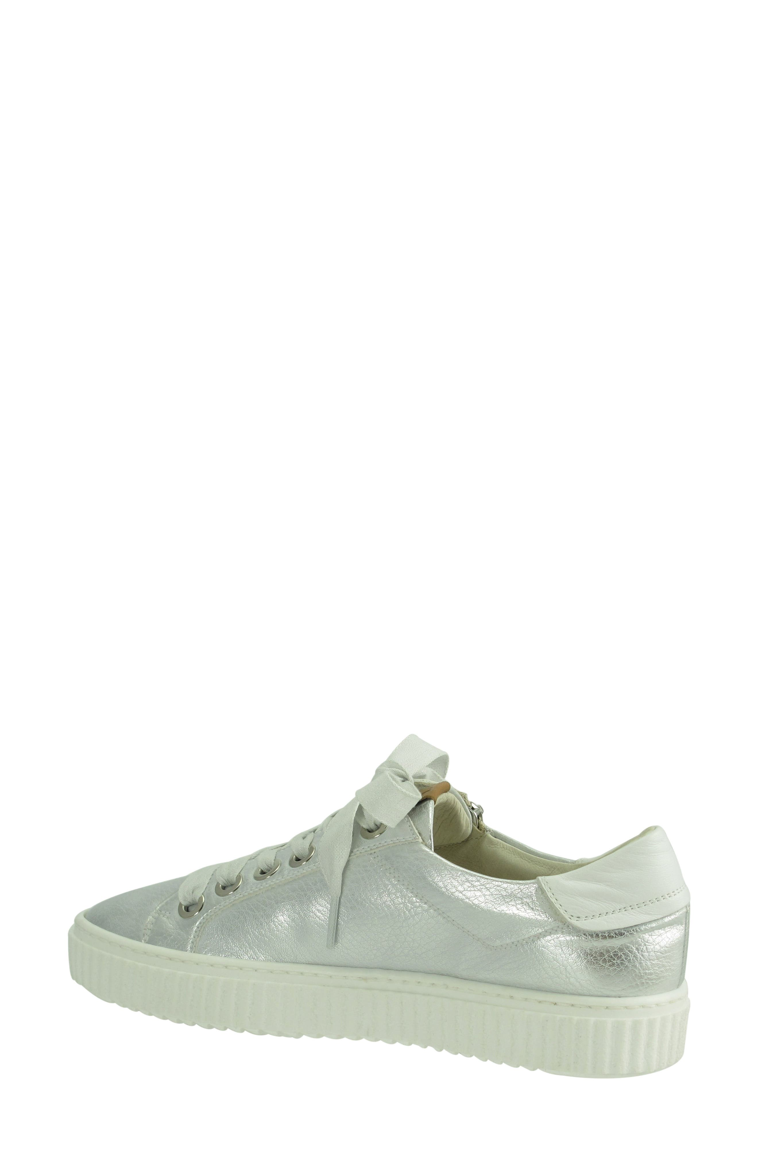 Posey Sneaker,                             Alternate thumbnail 2, color,                             Silver Leather