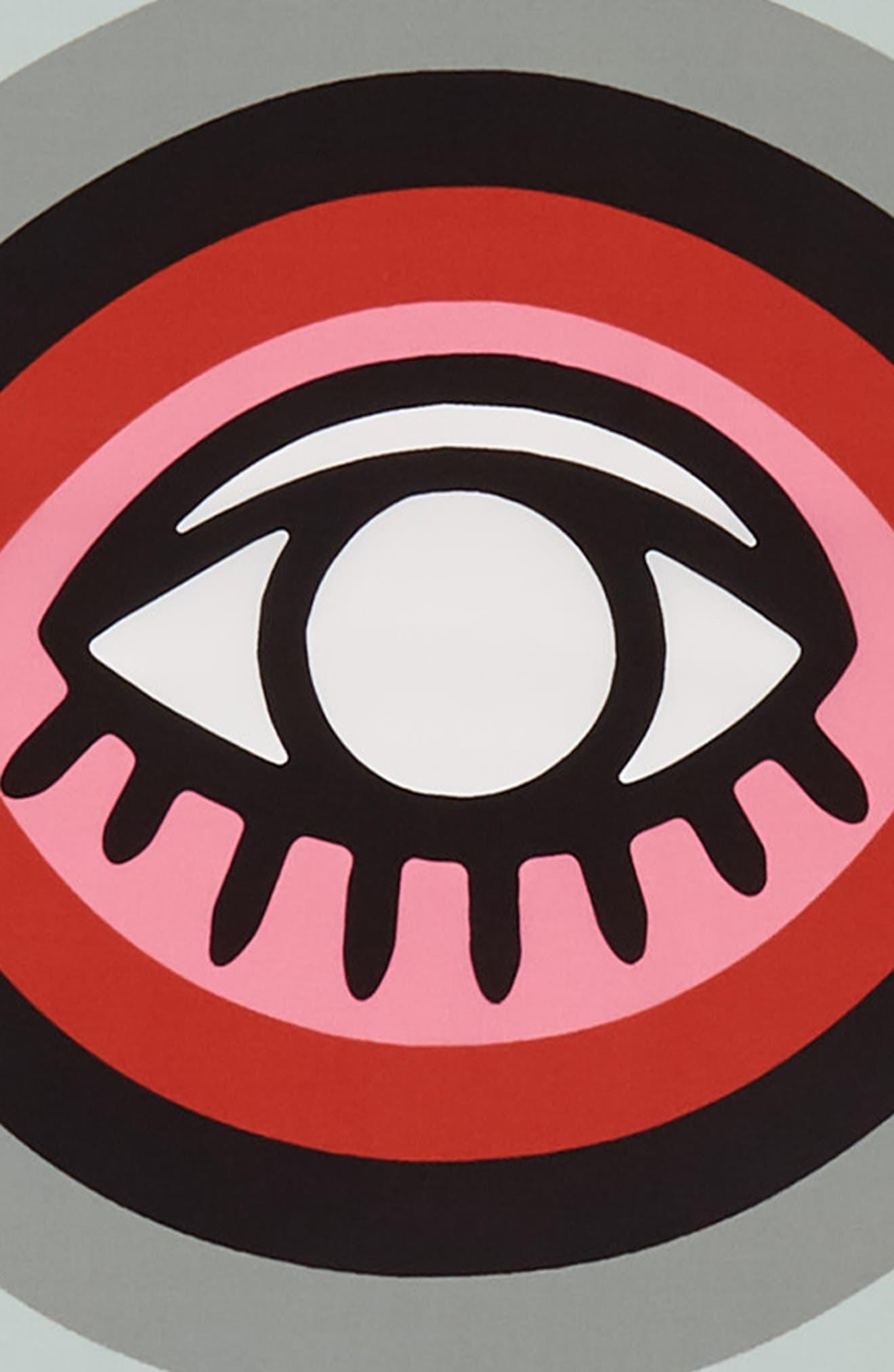 Evil Eye Square Silk Scarf,                             Alternate thumbnail 4, color,                             White Multi