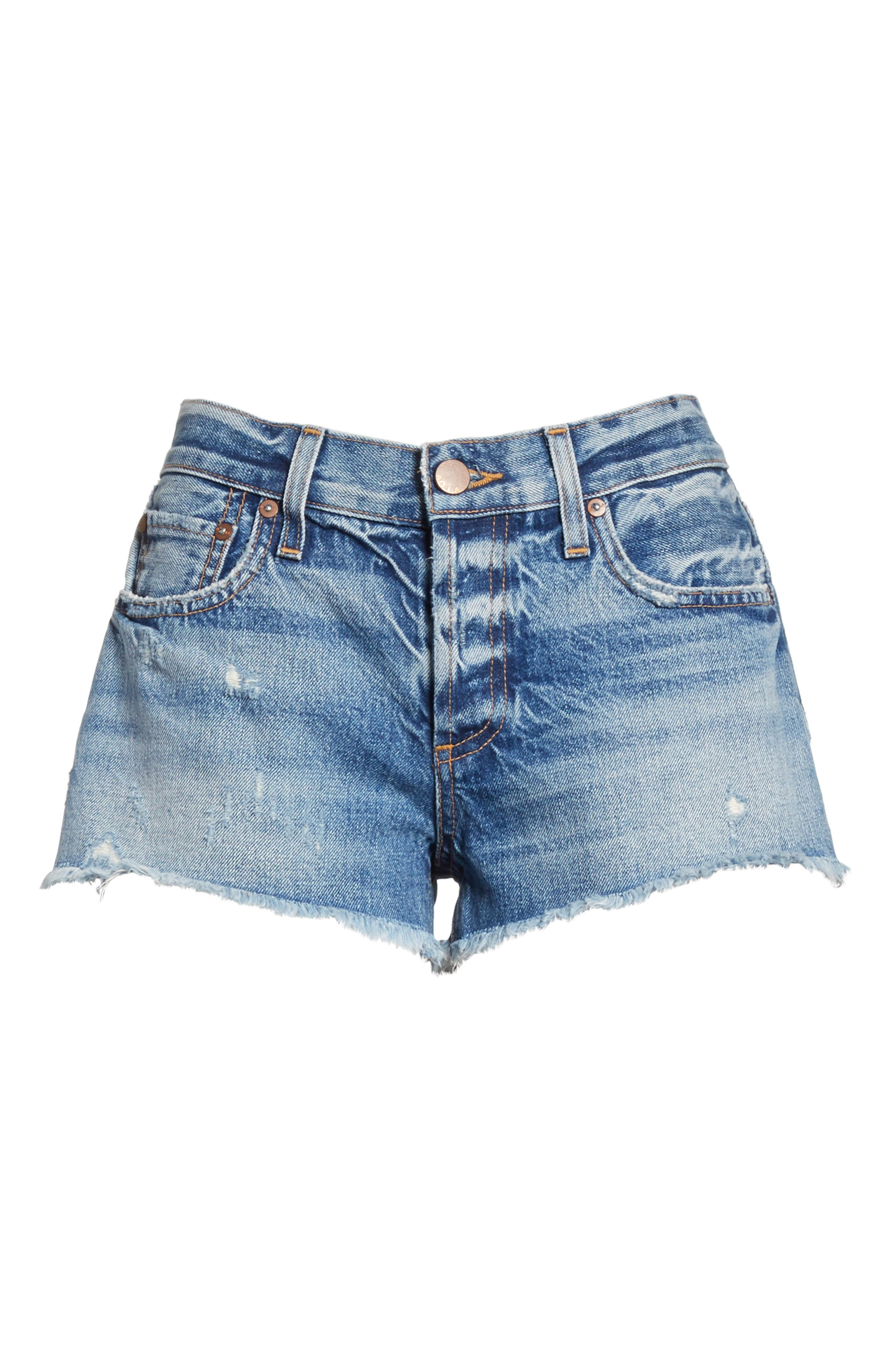 AO.LA Amazing Vintage Denim Shorts,                             Alternate thumbnail 6, color,                             Best Intentions