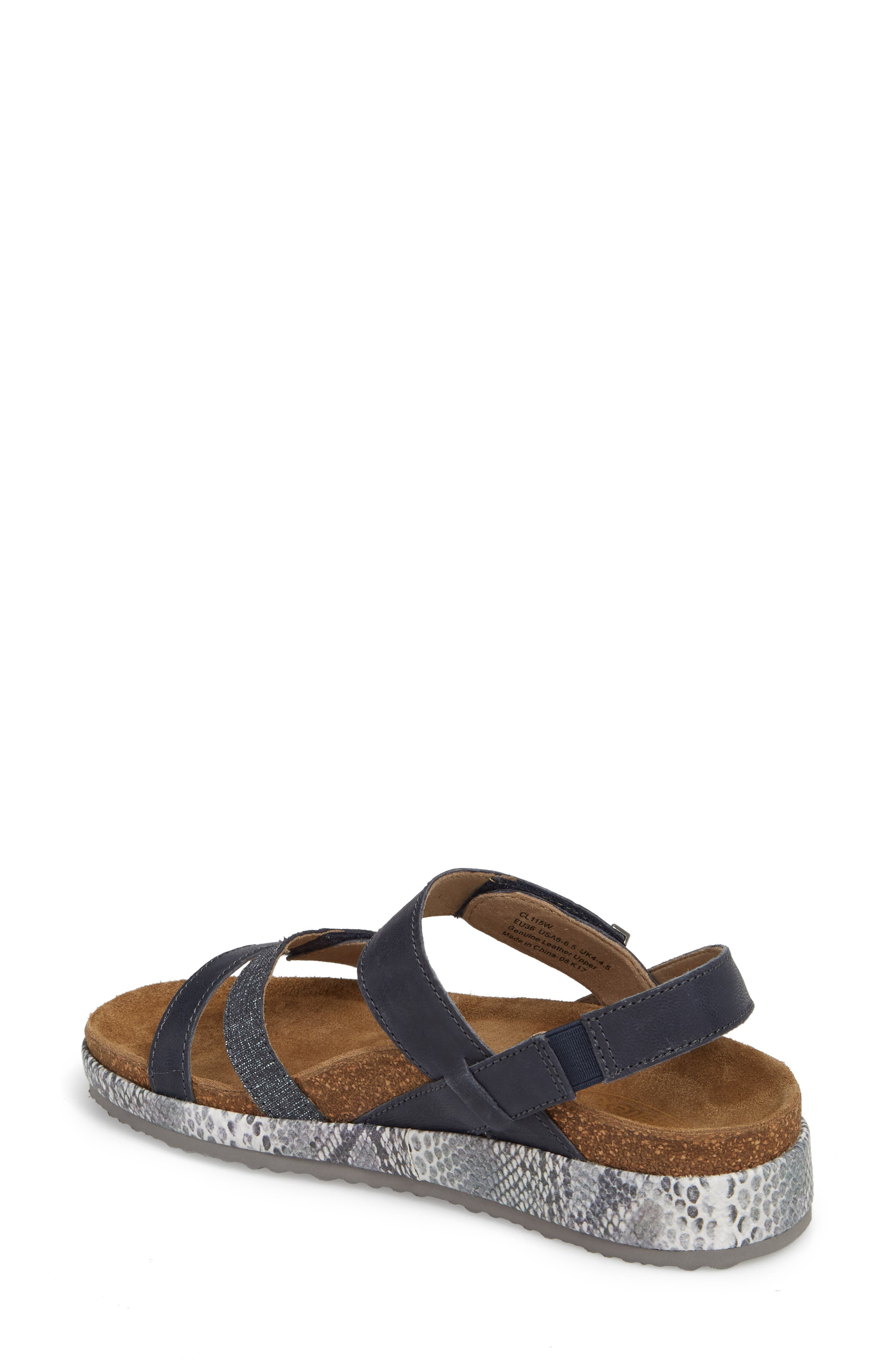 Bethany Sandal,                             Alternate thumbnail 2, color,                             Navy Multi Leather