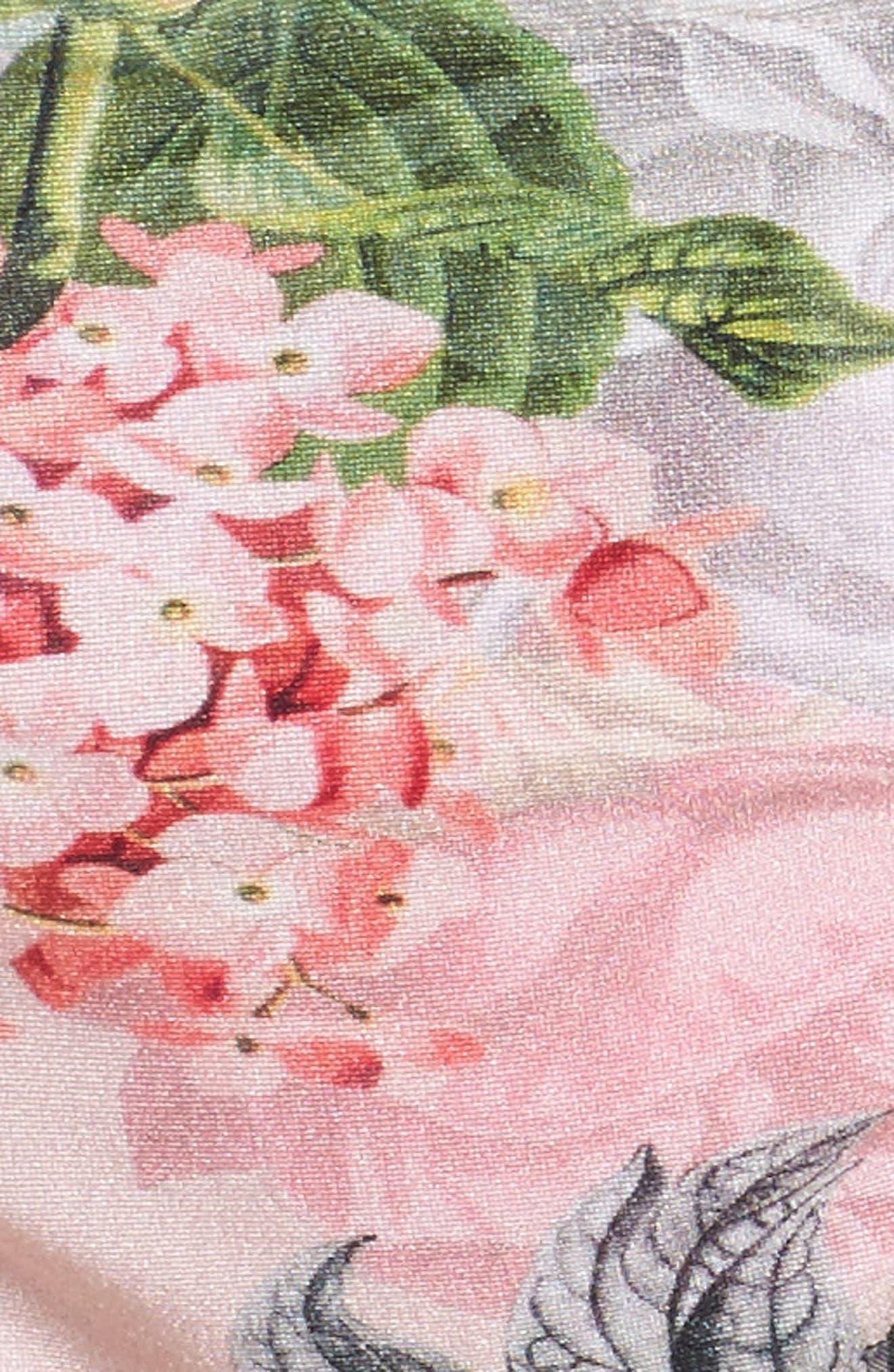Palace Gardens String Bikini Bottoms,                             Alternate thumbnail 5, color,                             Pink