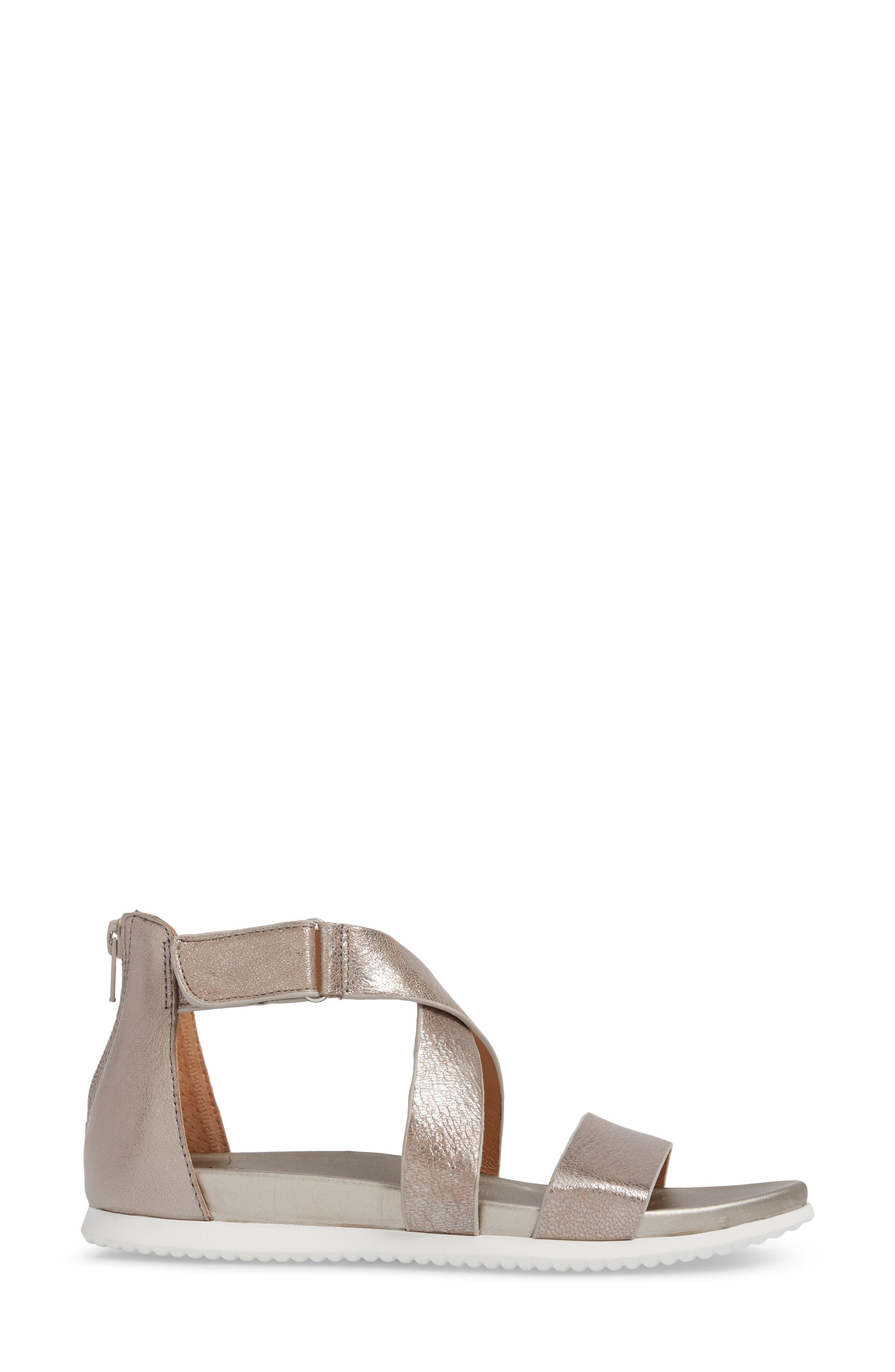 Fiora Sandal,                             Alternate thumbnail 3, color,                             Anthracite Leather