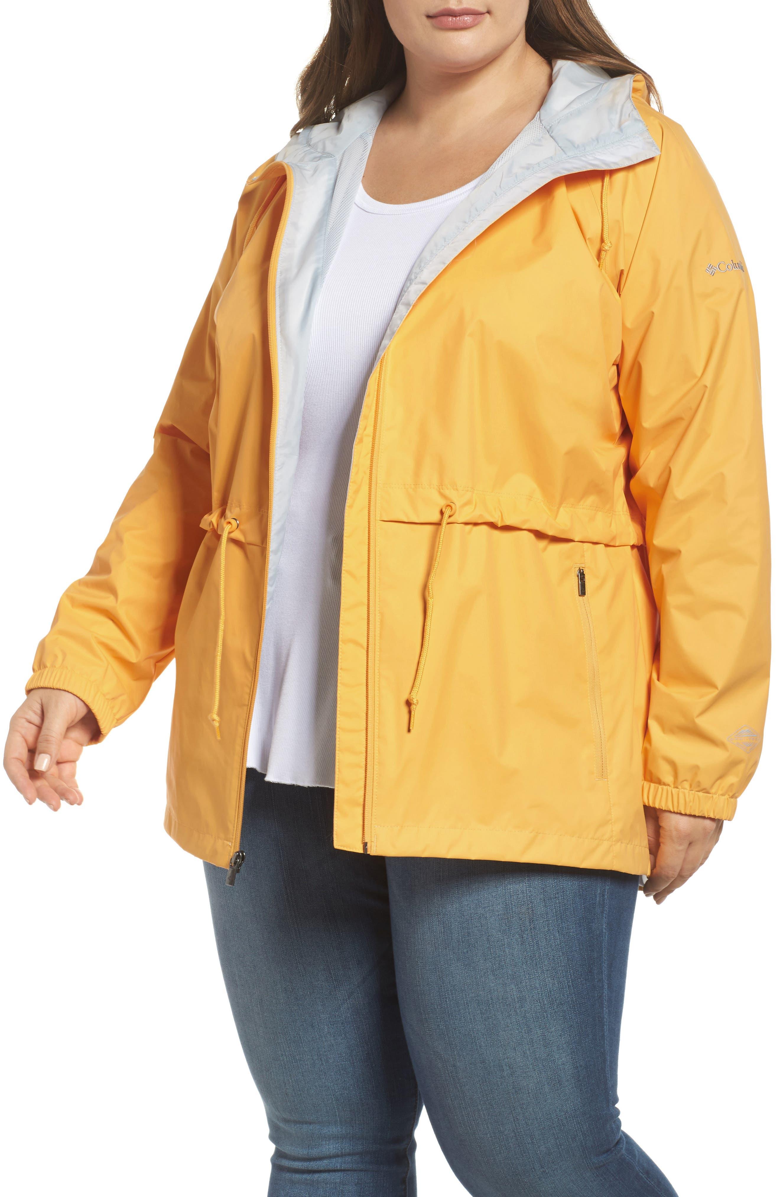 'Arcadia' Hooded Waterproof Casual Jacket,                             Main thumbnail 1, color,                             Yellow Ray Cirrus Grey