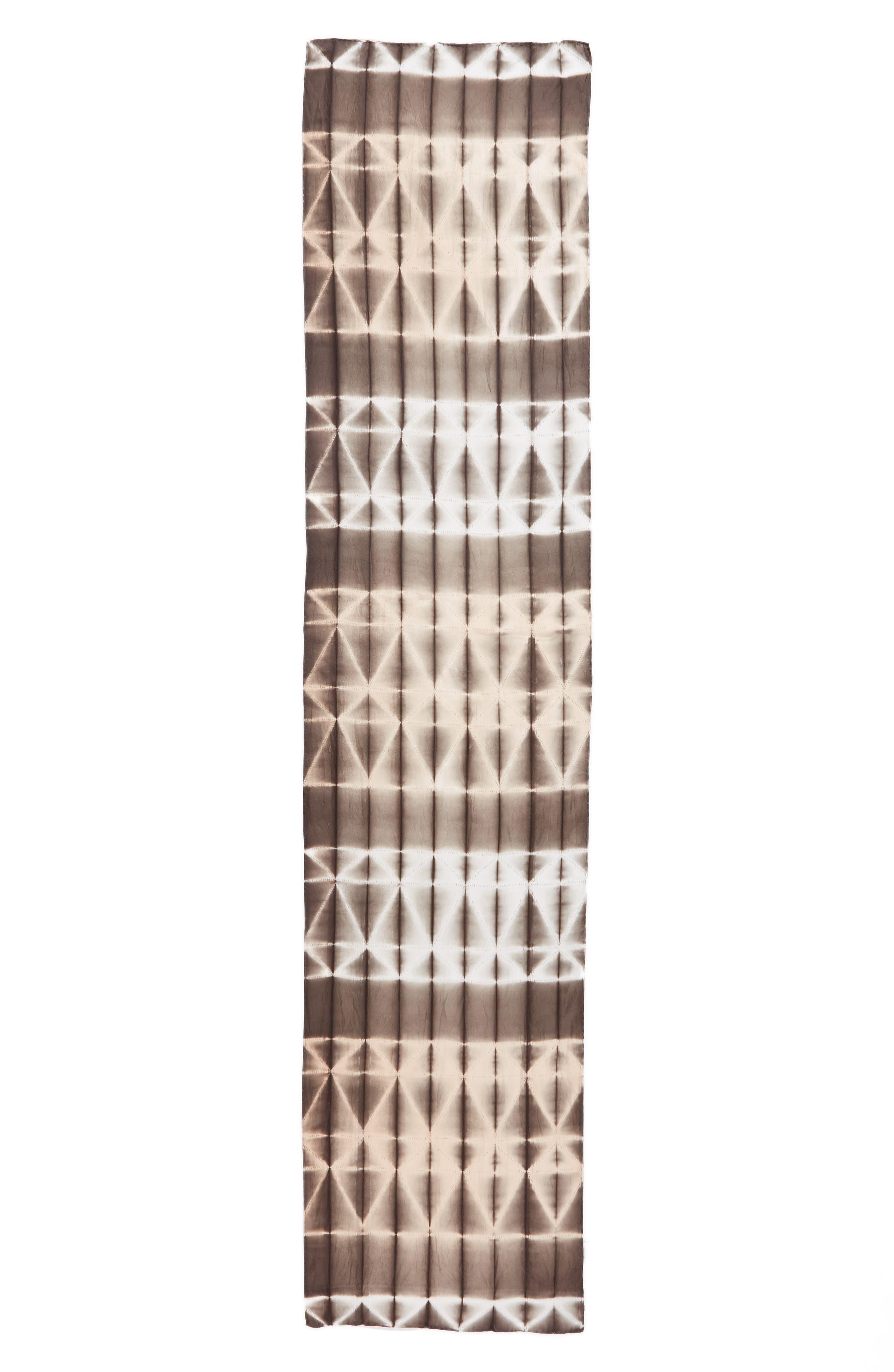 Tie Dye Silk Scarf,                             Alternate thumbnail 3, color,                             Rye