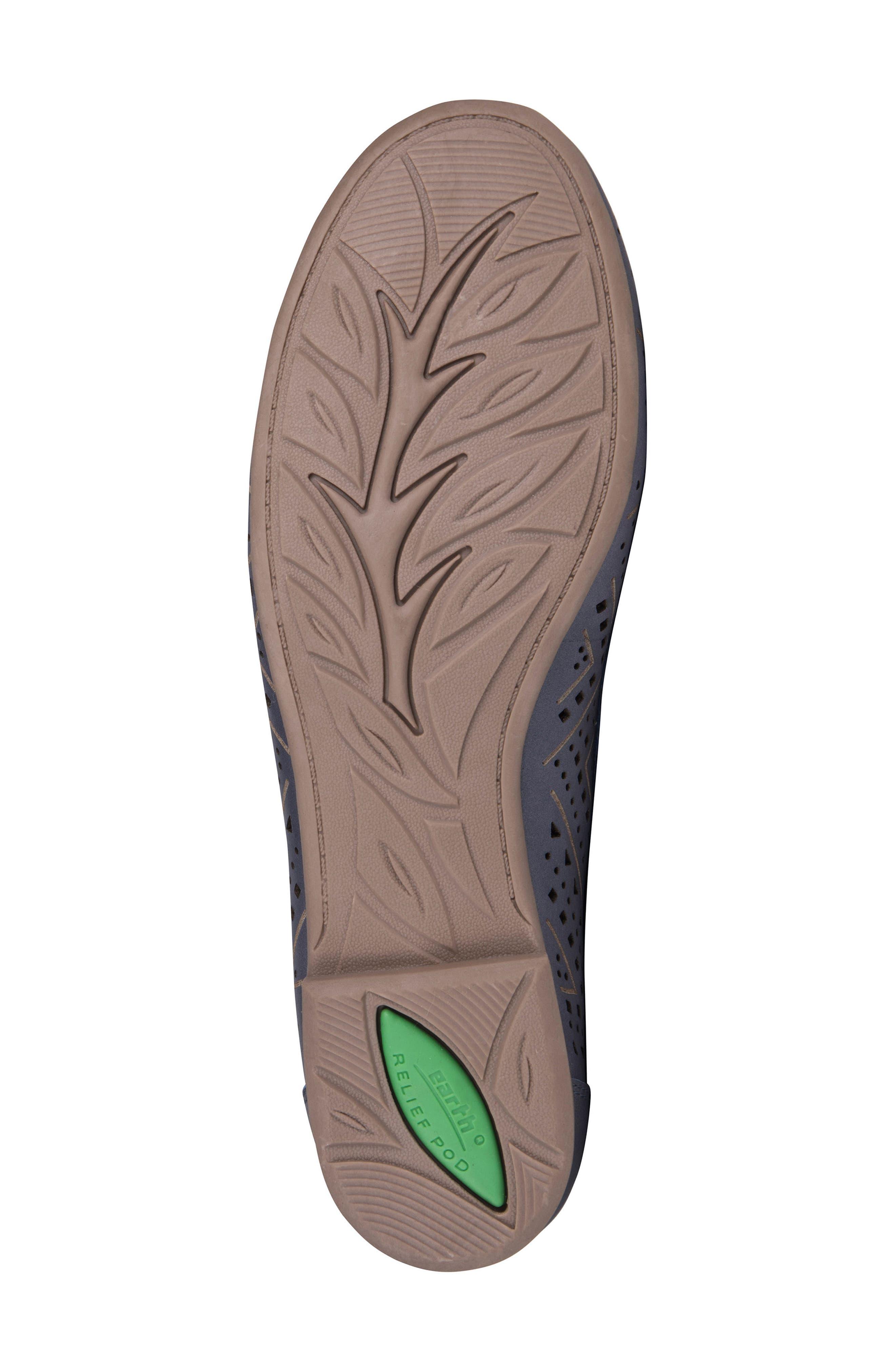 Royal Flat,                             Alternate thumbnail 6, color,                             Navy Metallic Leather