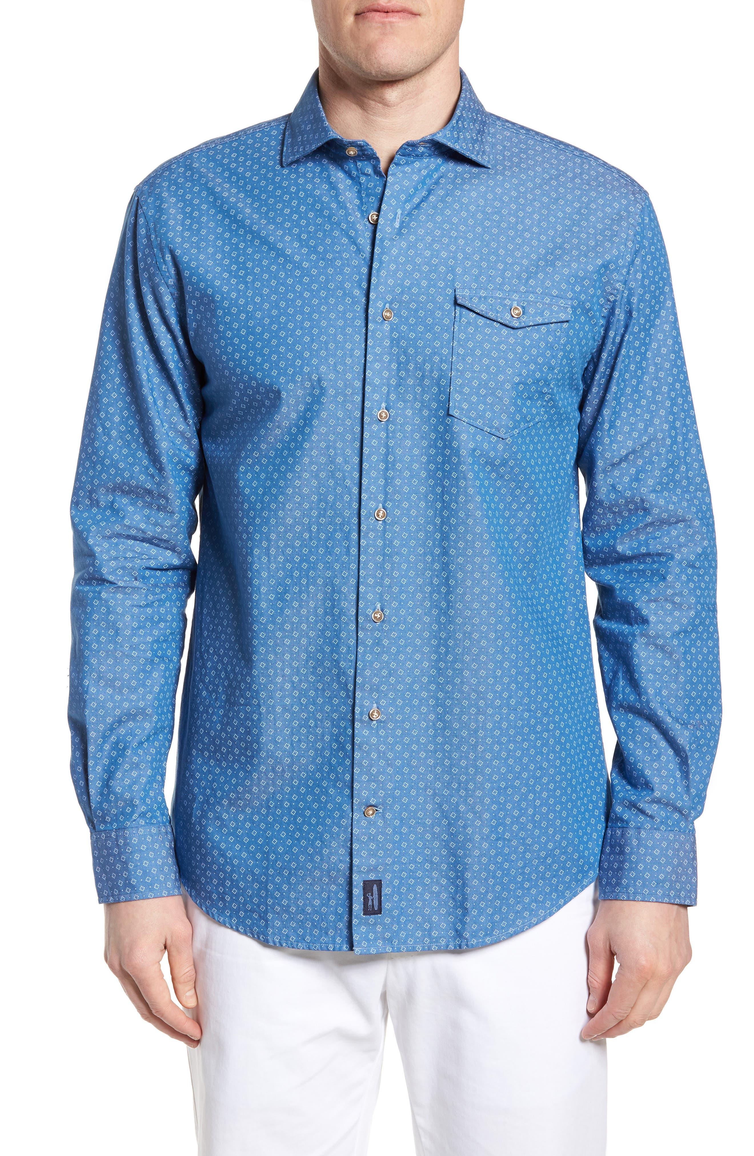 Barclay Regular Fit Sport Shirt,                         Main,                         color, Blazer