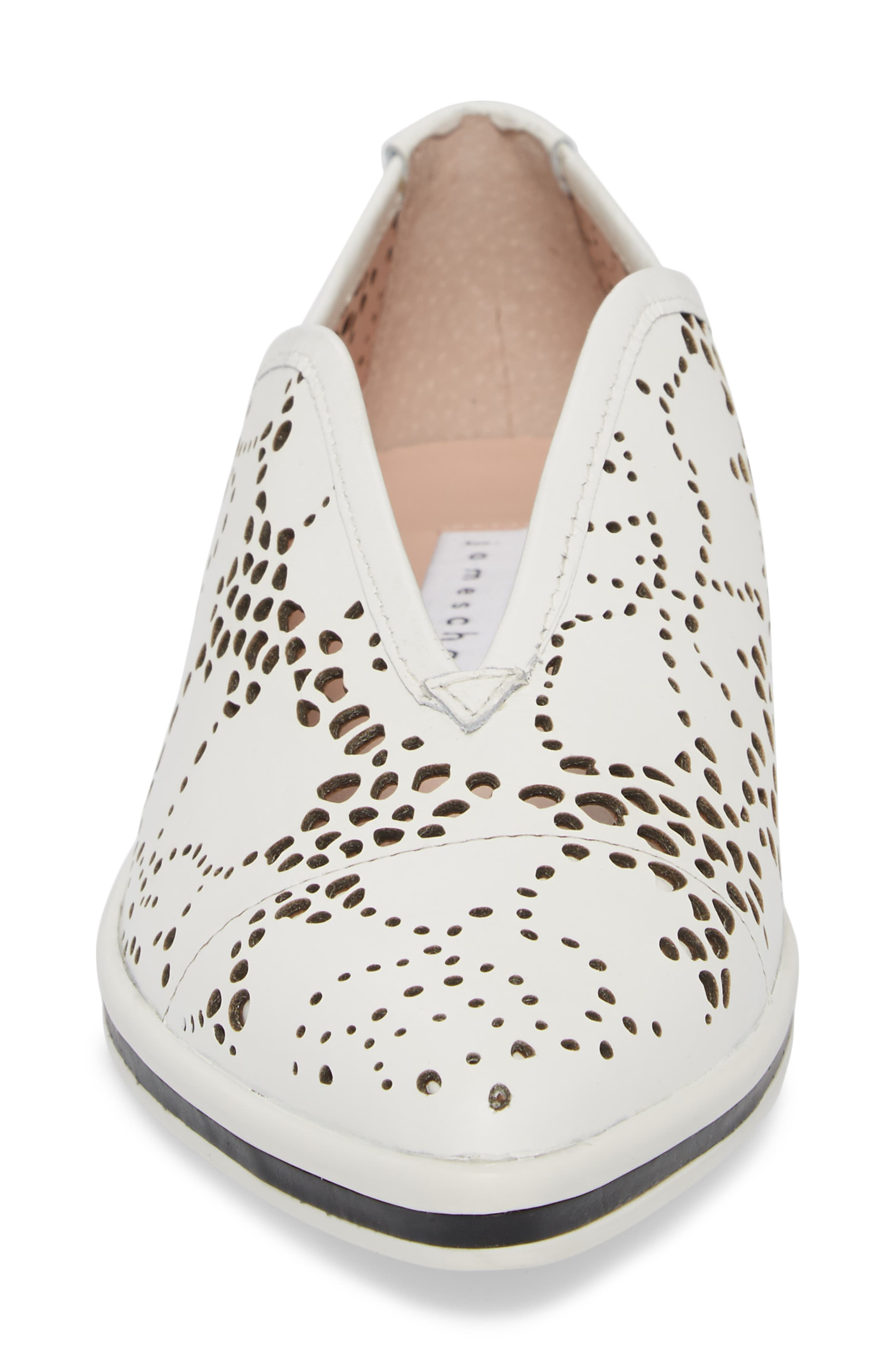 Tisha II Slip-On Sneaker,                             Alternate thumbnail 4, color,                             White Leather