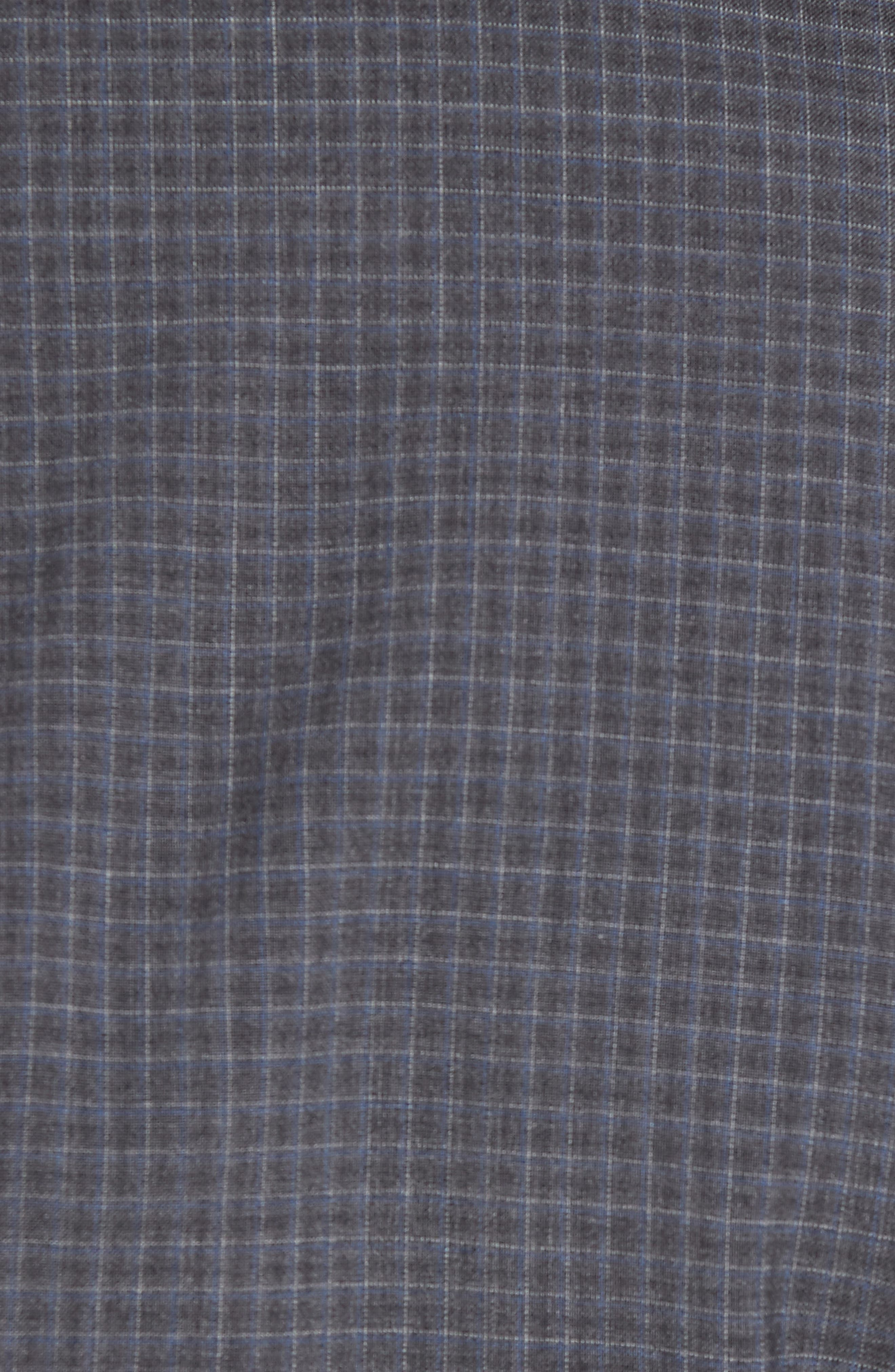 Classic B Fit Check Wool Suit,                             Alternate thumbnail 7, color,                             Charcoal