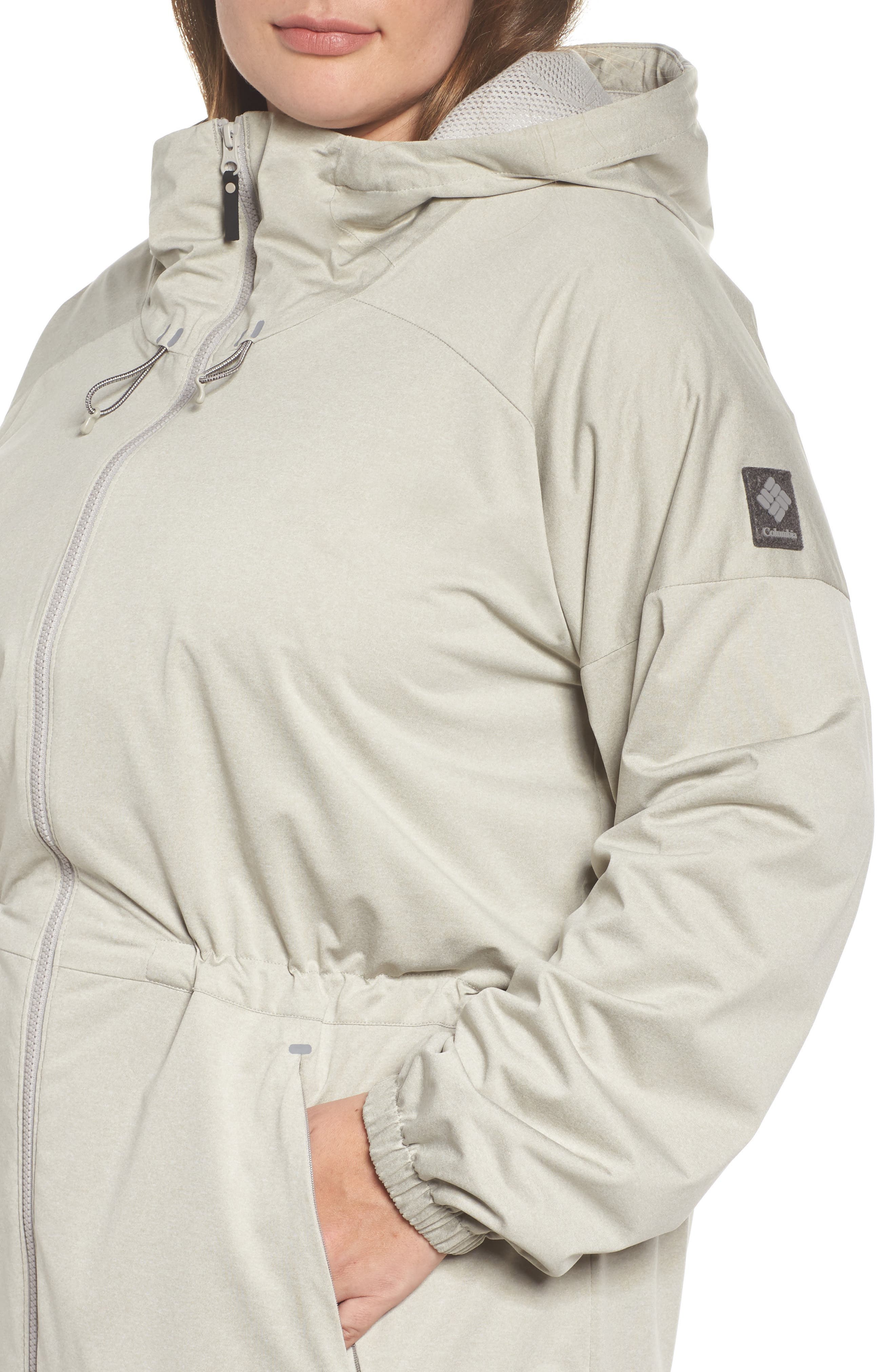 Northbounder Waterproof Hooded Jacket,                             Alternate thumbnail 4, color,                             Flint Grey Heather