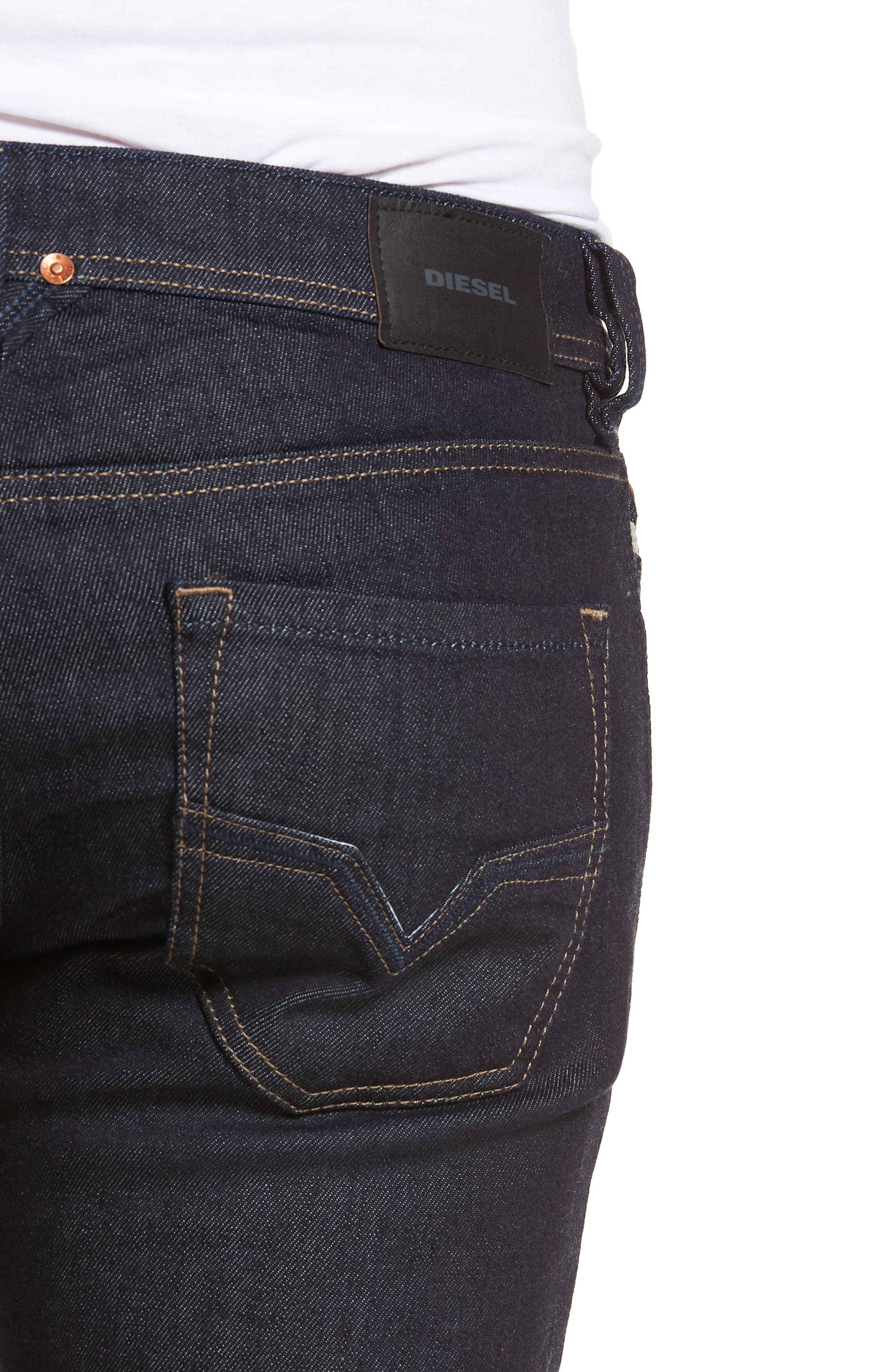 Larkee Relaxed Fit Jeans,                             Alternate thumbnail 4, color,                             Blue