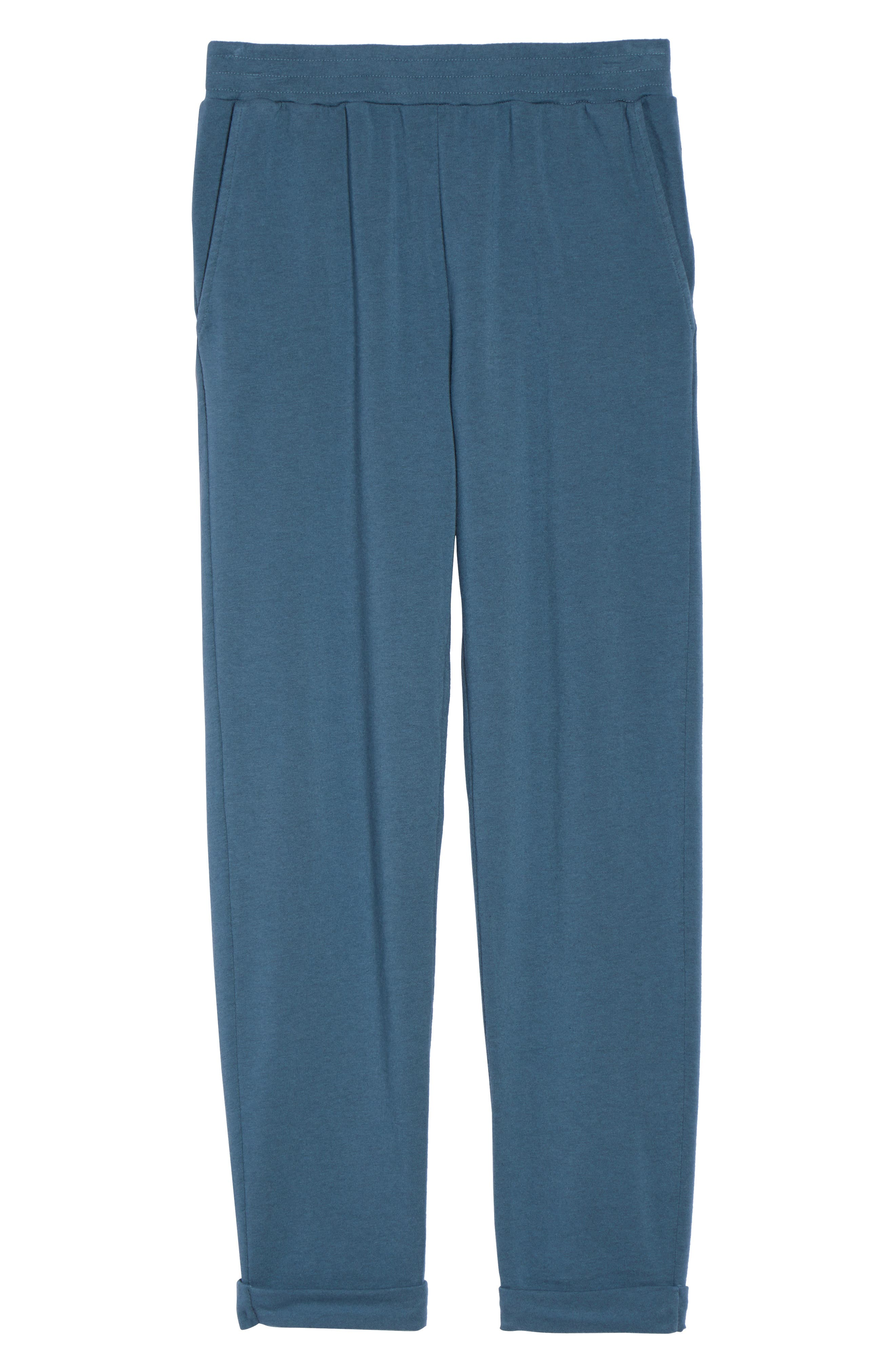French Terry Sweatpants,                             Alternate thumbnail 4, color,                             Royal Teal