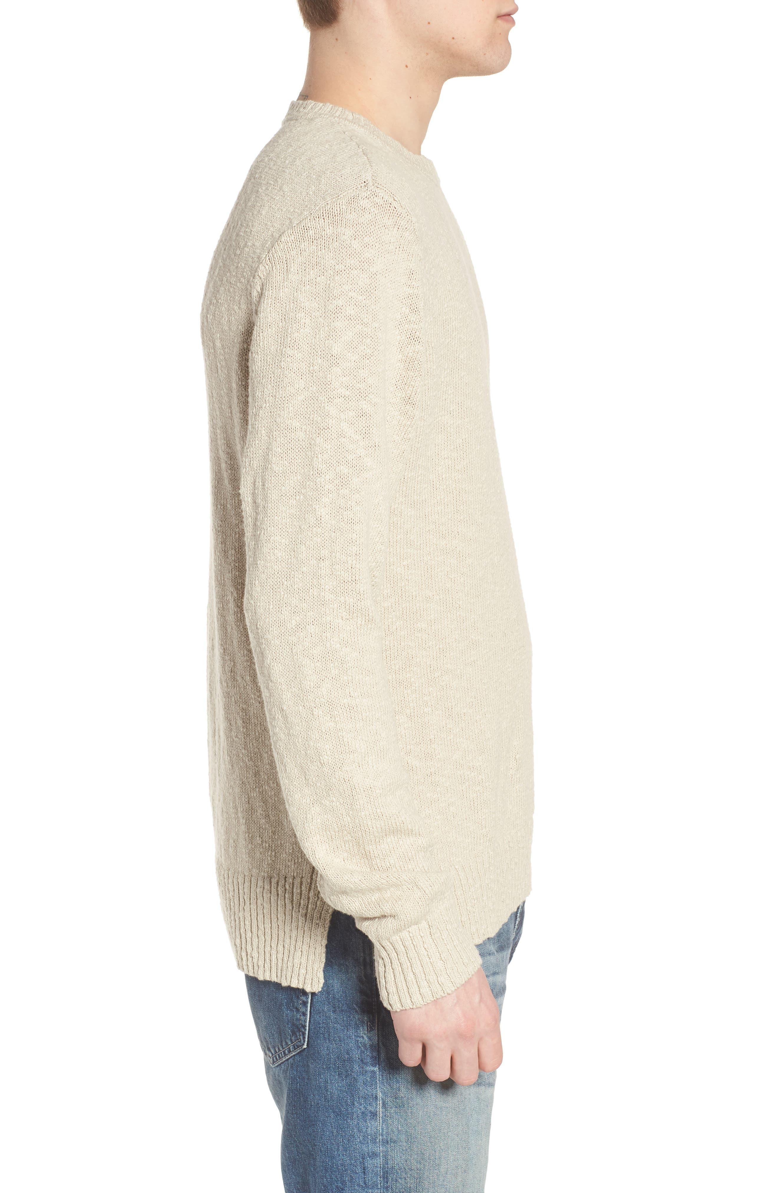Deklyn Slim Fit Crew Sweater,                             Alternate thumbnail 3, color,                             Mineral Veil