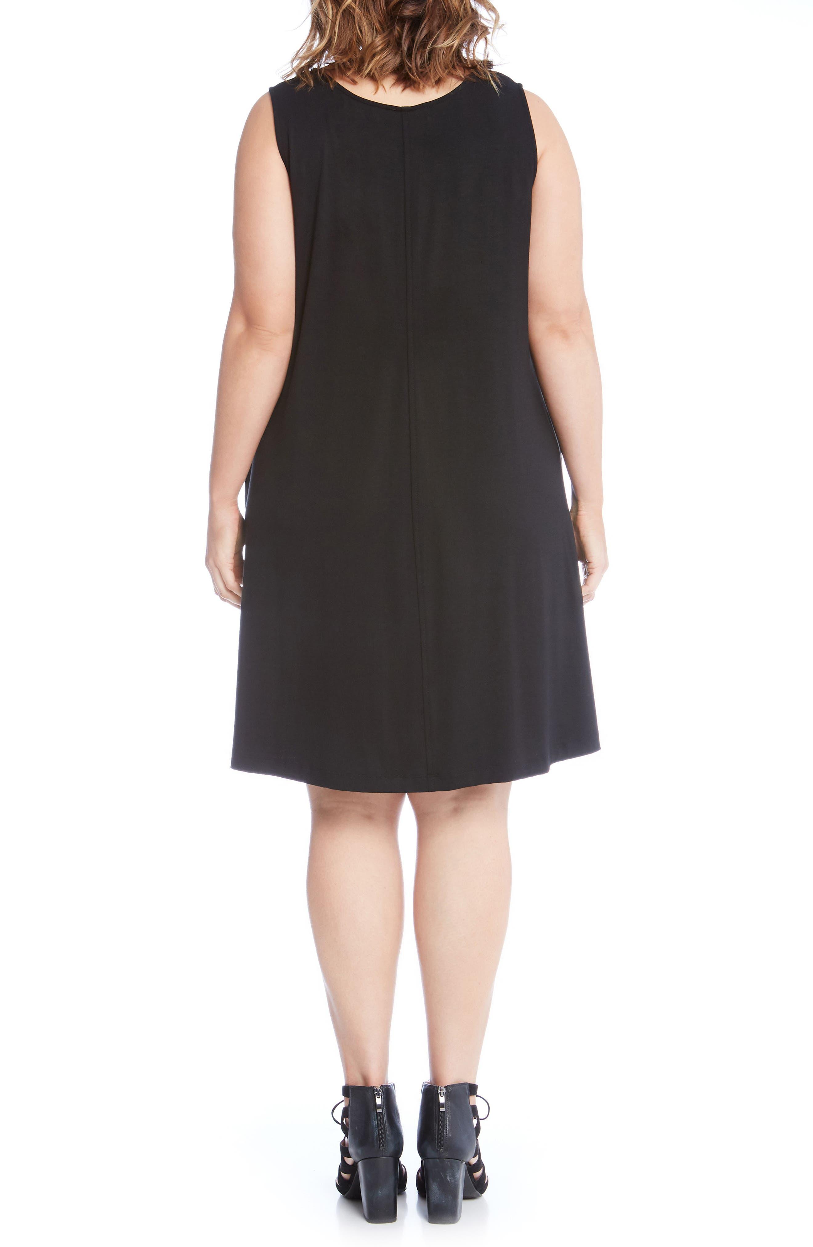 Chloe Swing Dress,                             Alternate thumbnail 2, color,                             Black