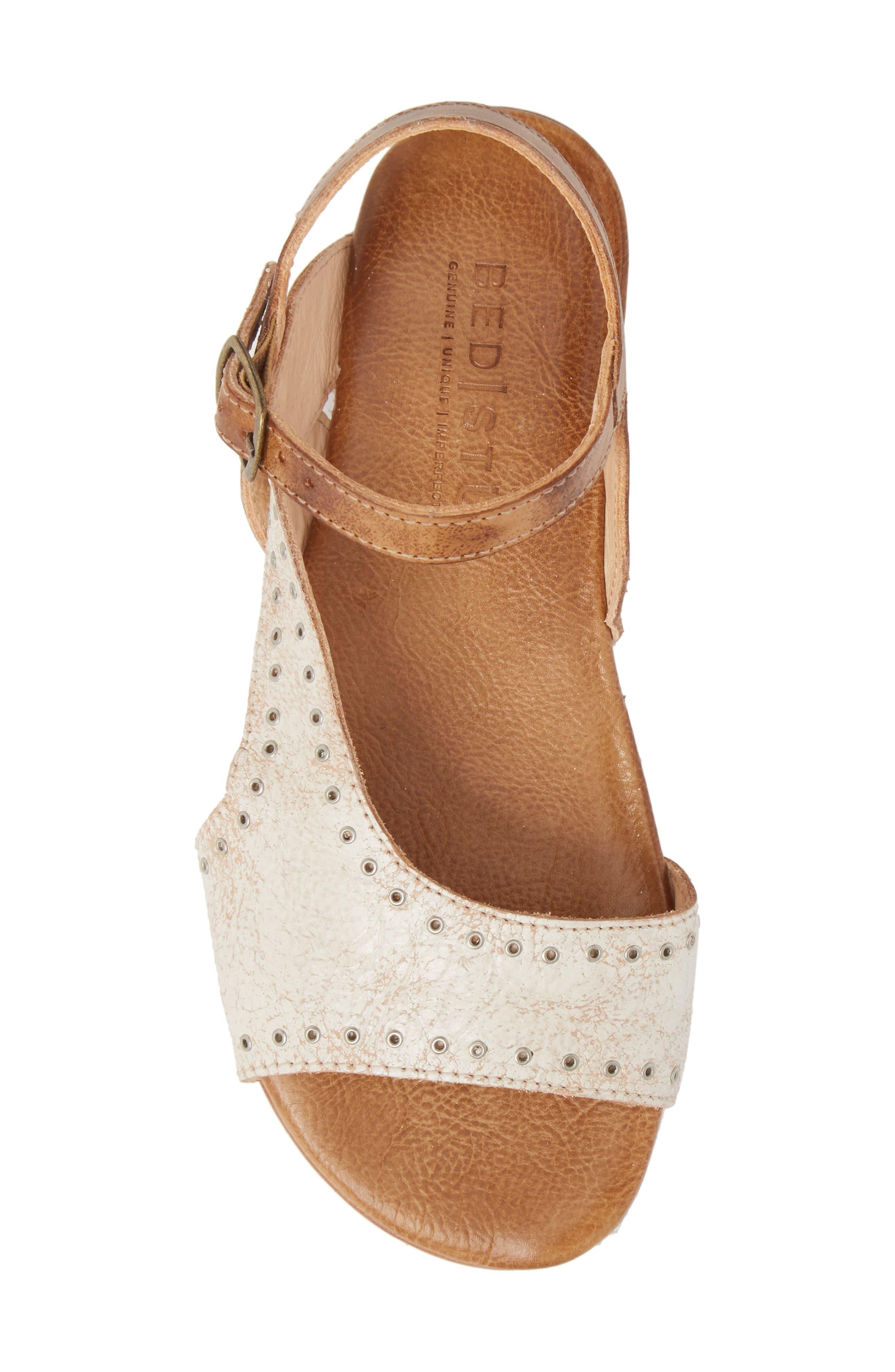 Auburn Flat Sandal,                             Alternate thumbnail 5, color,                             Nectar/ Tan Leather