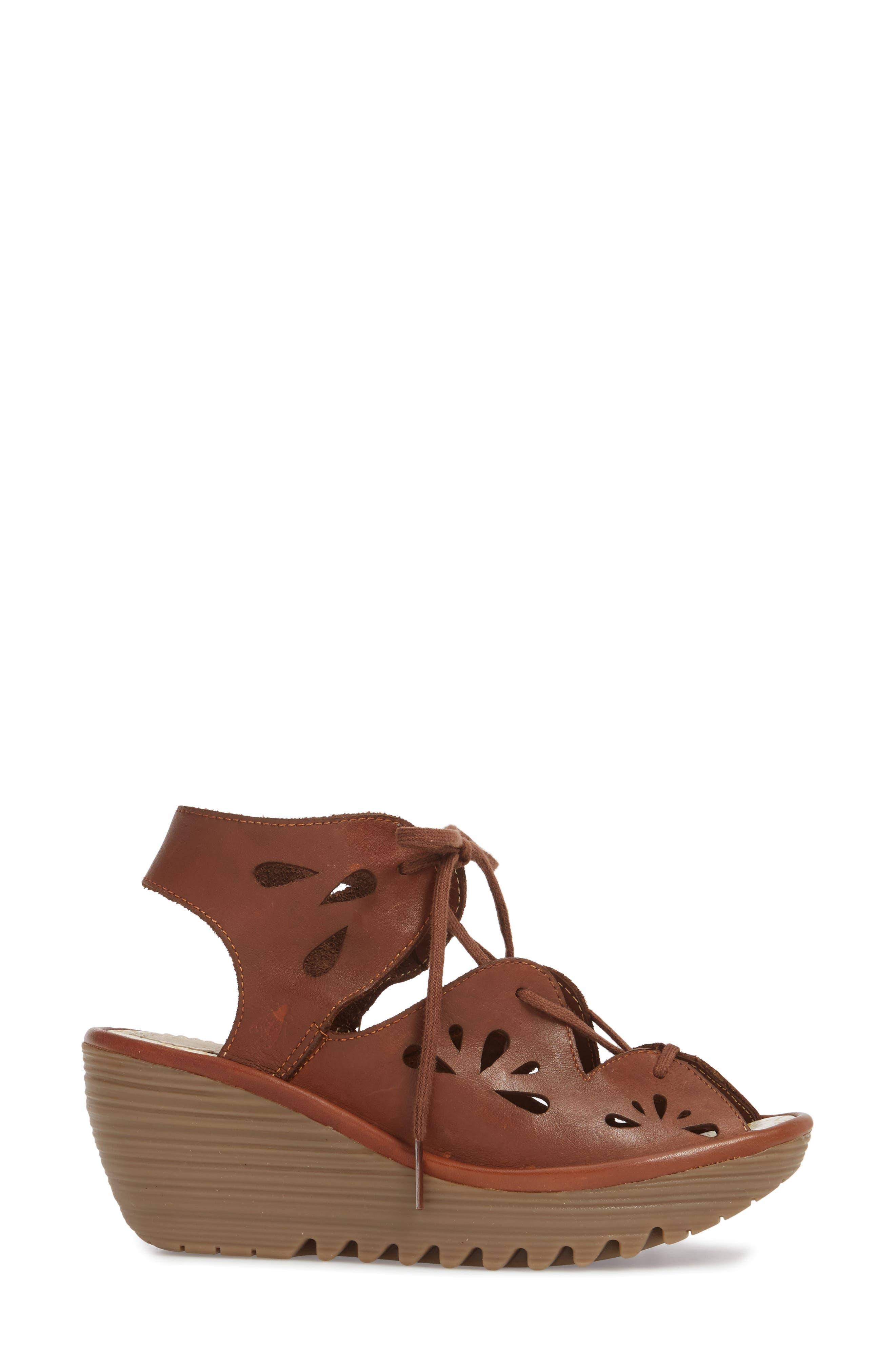 Yote Sandal,                             Alternate thumbnail 3, color,                             Brown Colmar Leather