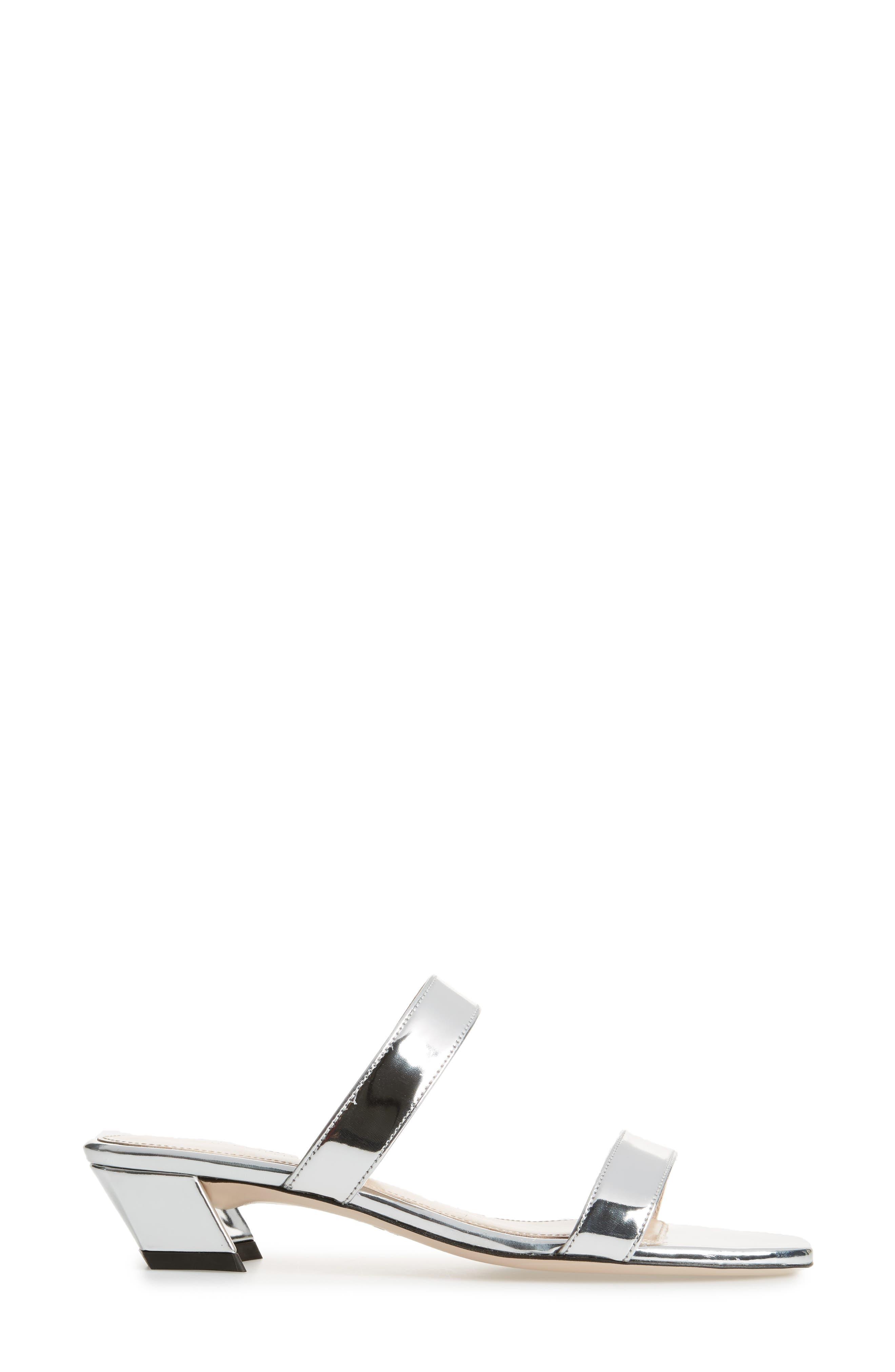 Ava Slide Sandal,                             Alternate thumbnail 3, color,                             Silver Reflector