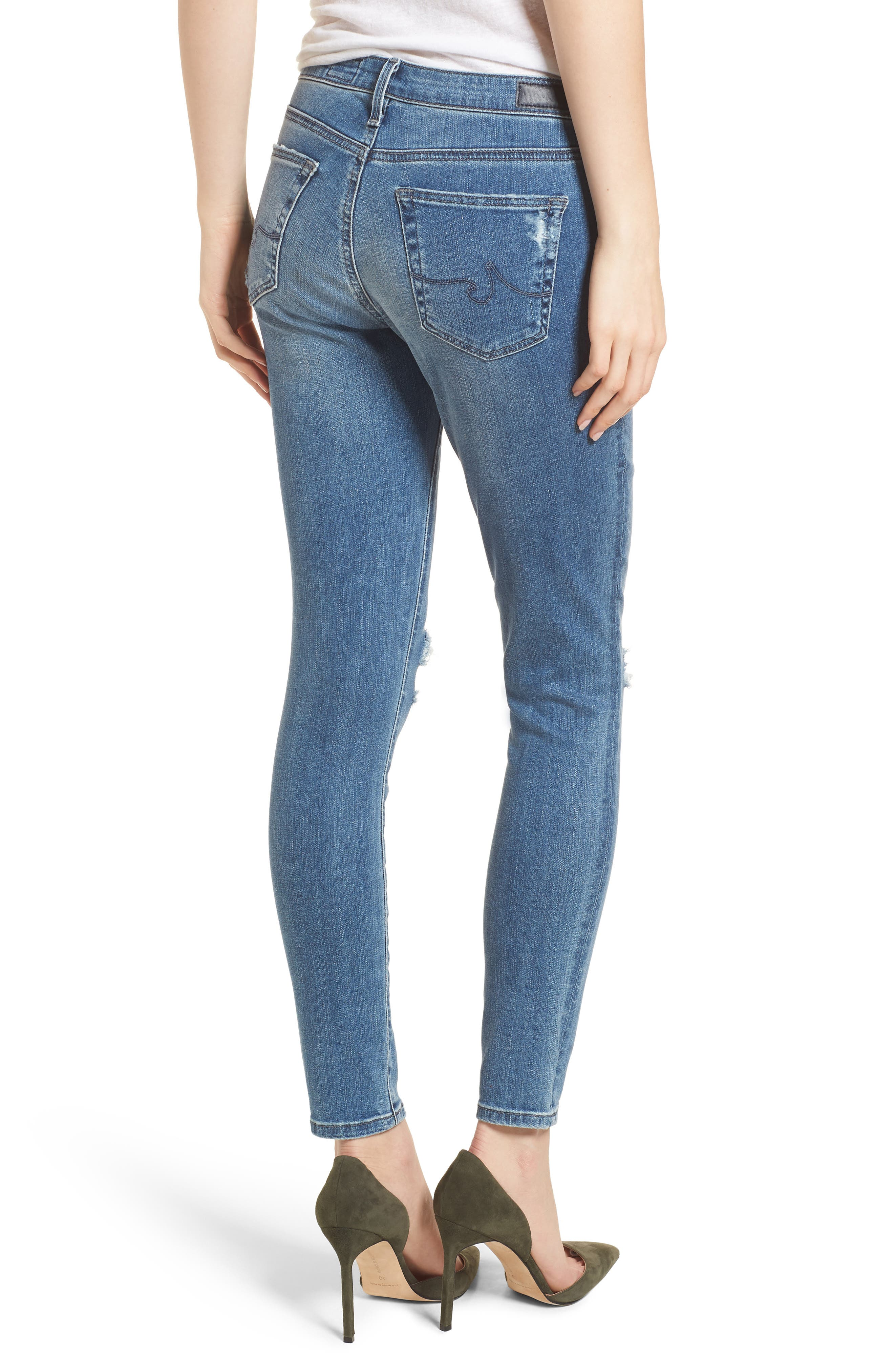 The Legging Ankle Jeans,                             Alternate thumbnail 2, color,                             Sea Sprite Destructed