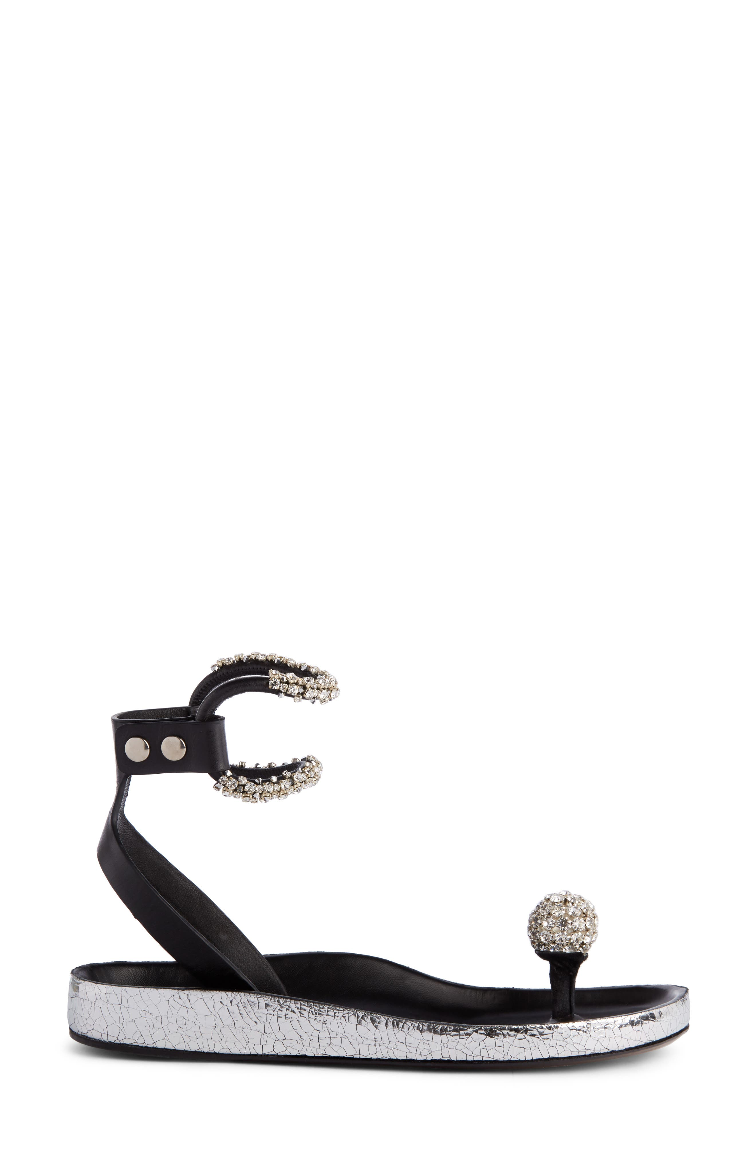 Ecly Crystal Ball Sandal,                             Alternate thumbnail 4, color,                             Silver
