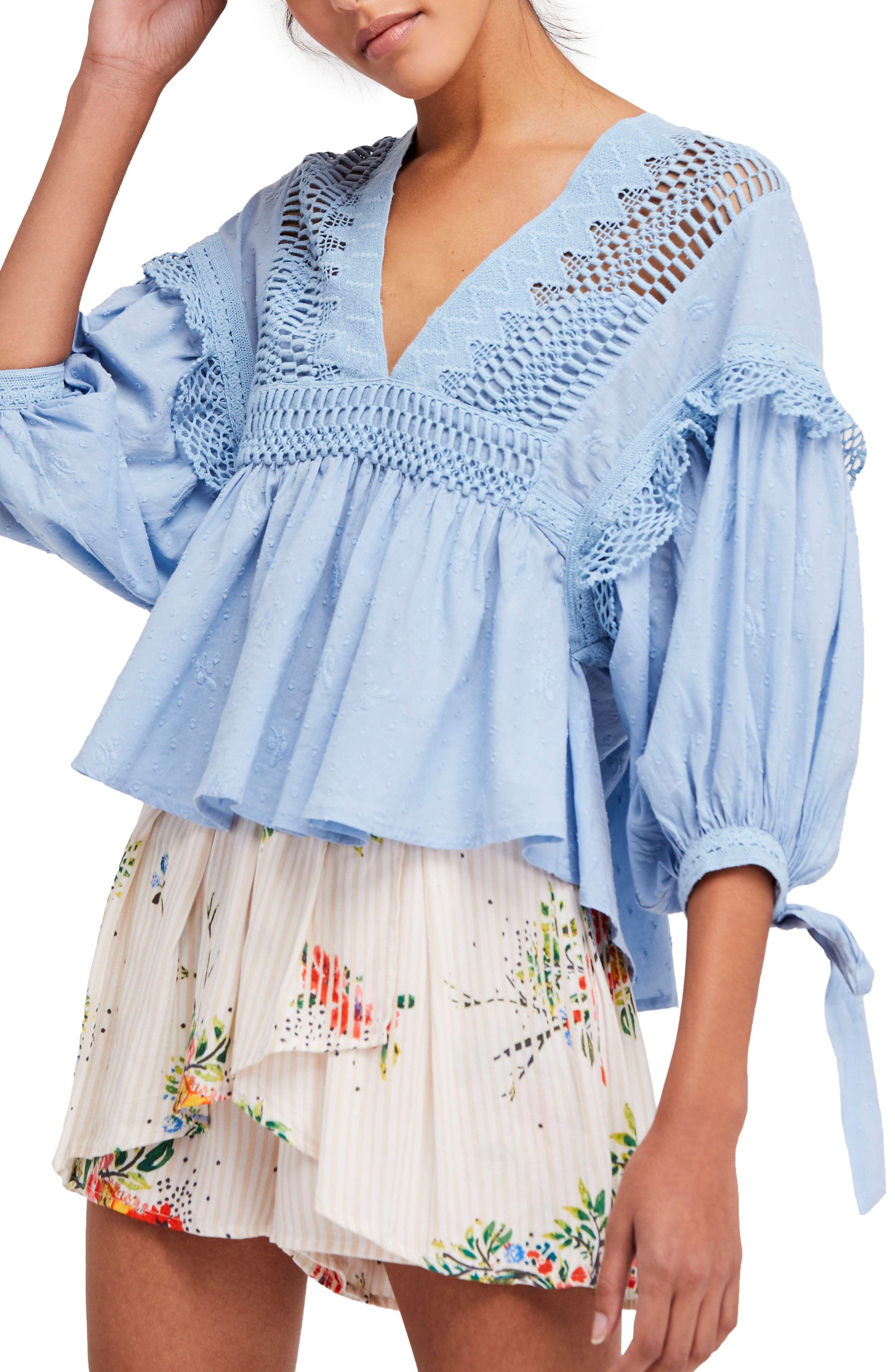 Drive You Mad Blouse,                         Main,                         color, Blue