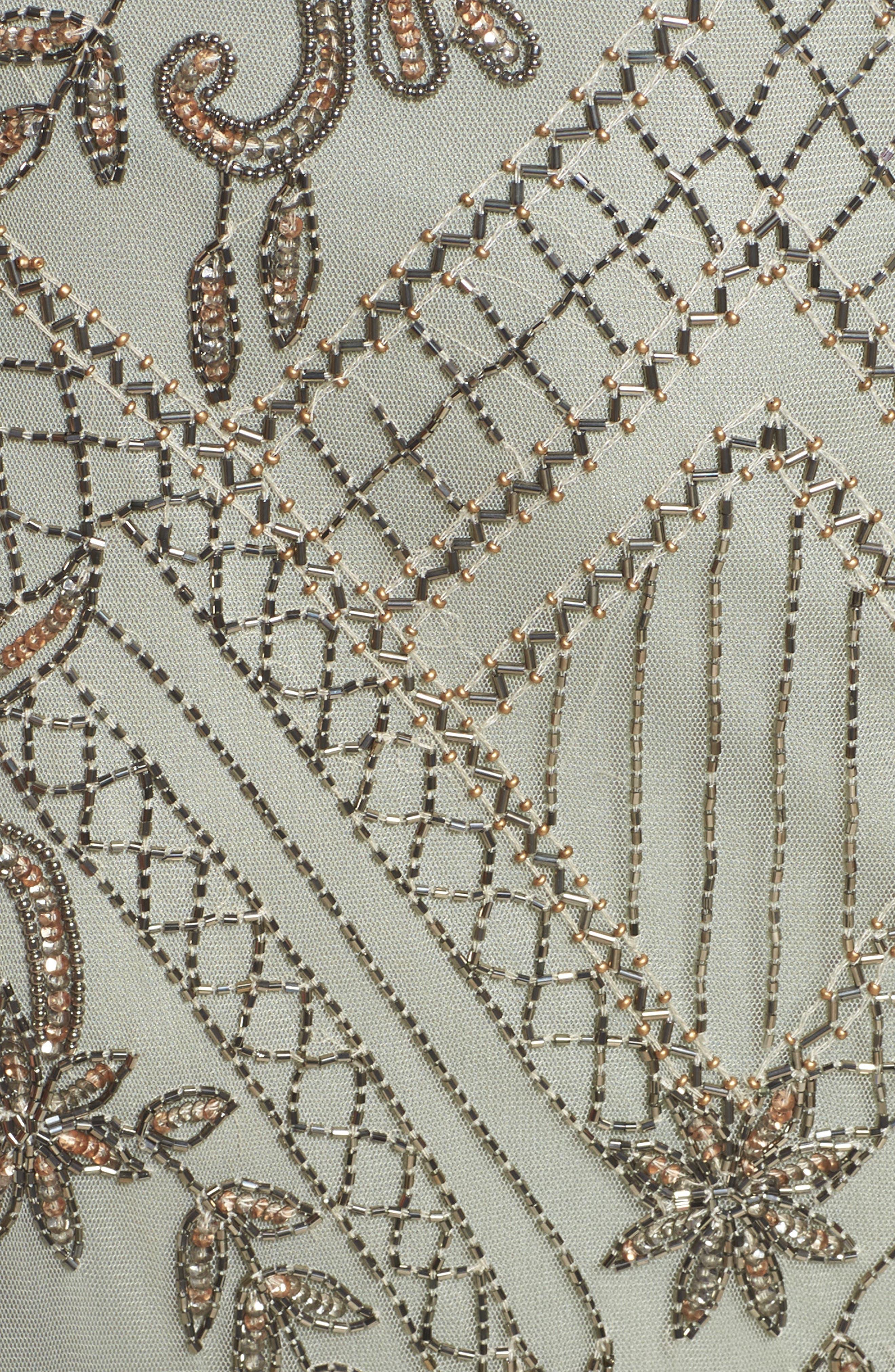 Embellished Mesh Gown,                             Alternate thumbnail 5, color,                             Sage