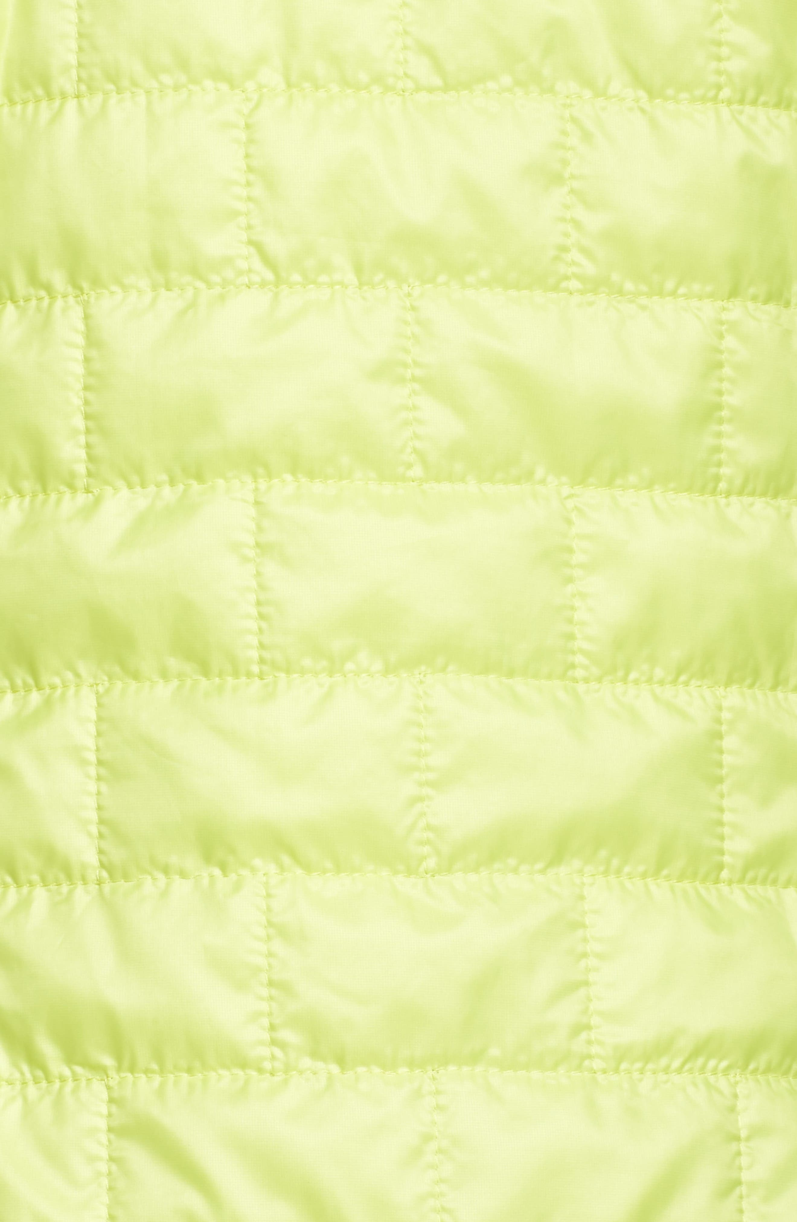 Nano Puff<sup>®</sup> Hooded Water Resistant Jacket,                             Alternate thumbnail 6, color,                             Celery Green