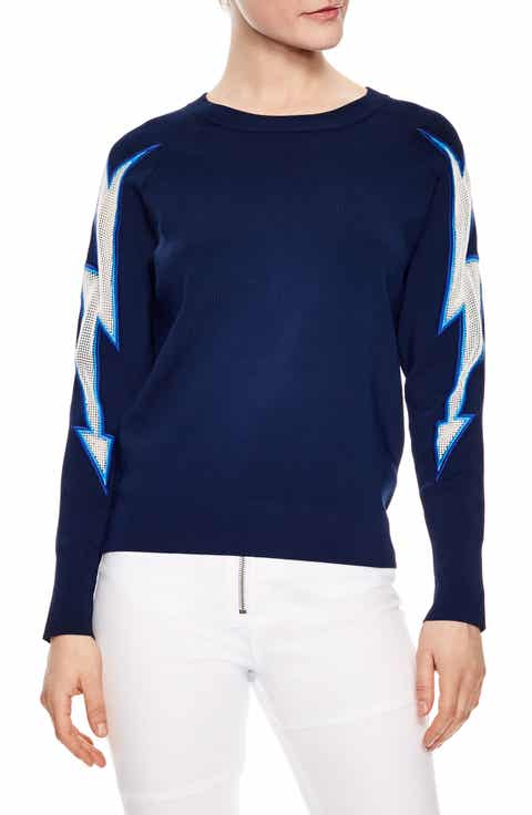 sandro Mesh Inset Sweater