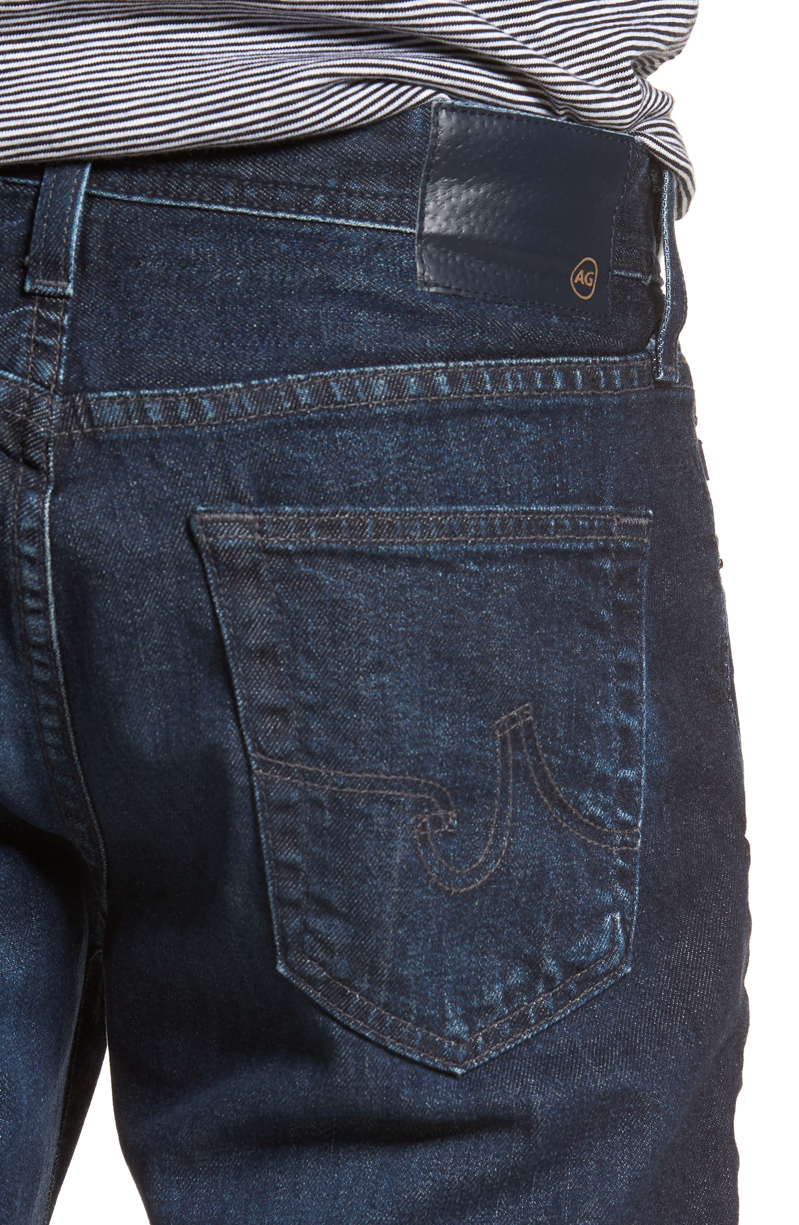 Graduate Slim Straight Leg Jeans,                             Alternate thumbnail 4, color,                             Stafford