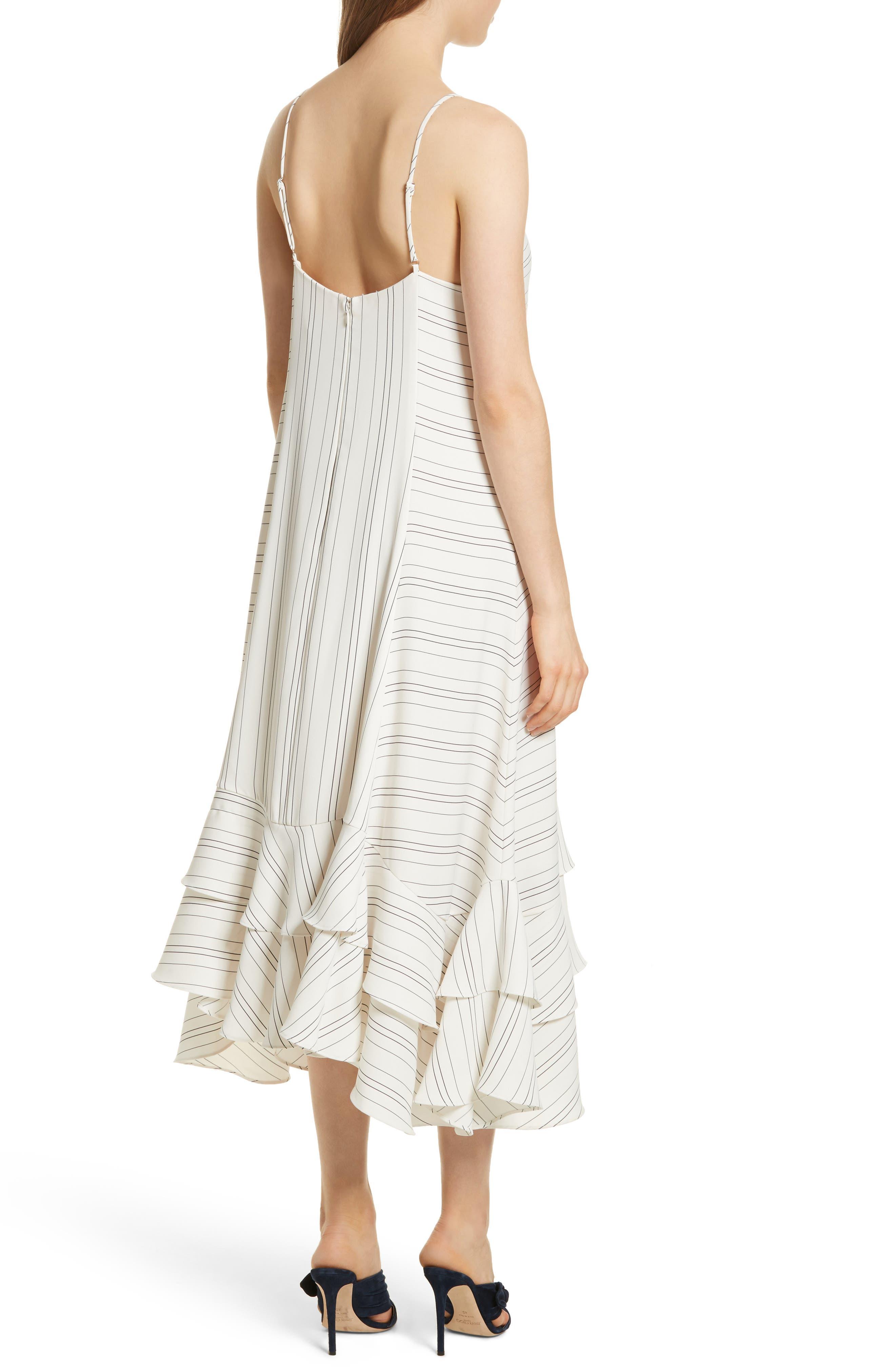 Prose & Poetry Skylar Flare Midi Dress,                             Alternate thumbnail 2, color,                             Light Ecru
